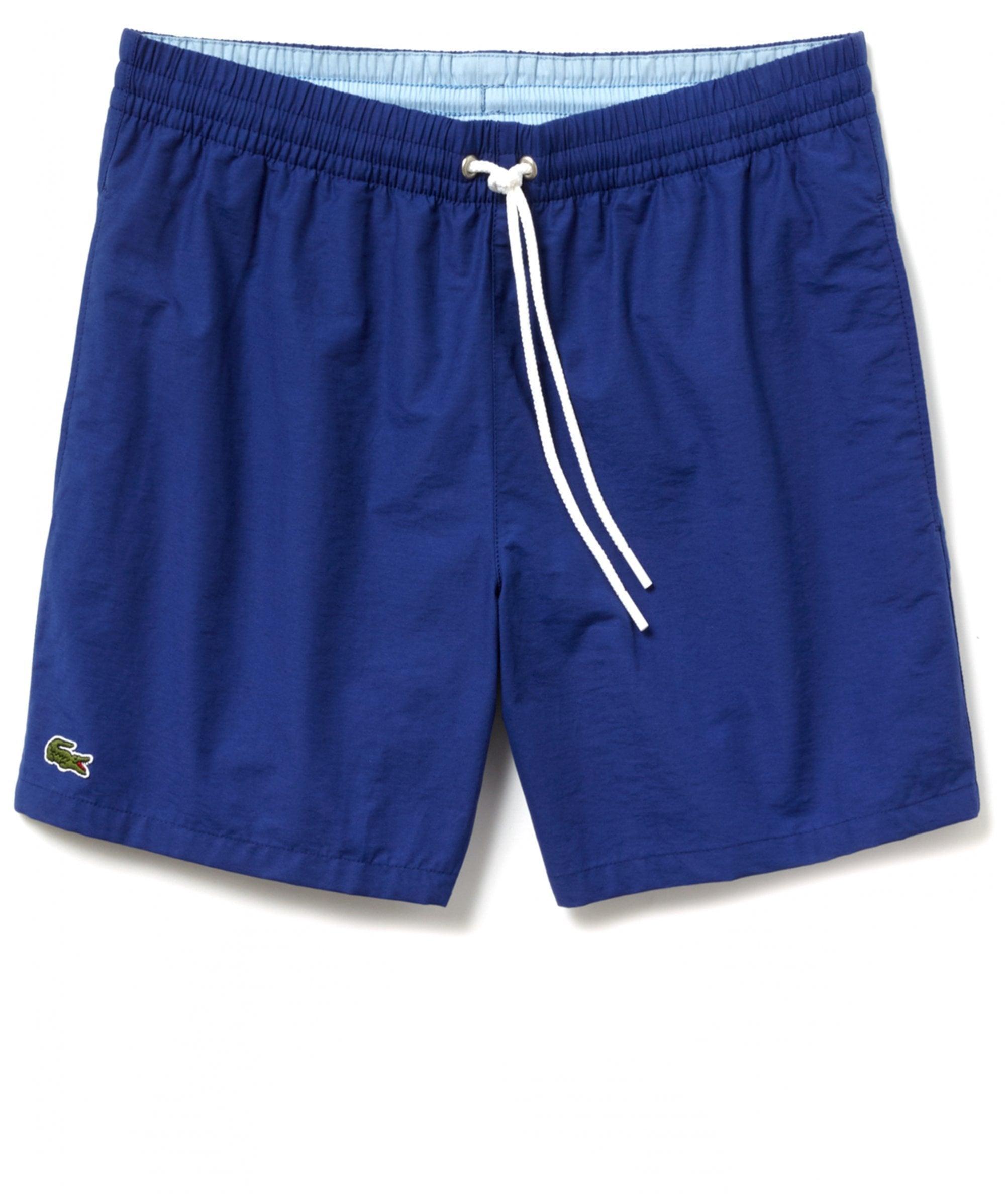 7eb13cdae0 Lyst - Lacoste Taffeta Swim Shorts in Blue for Men