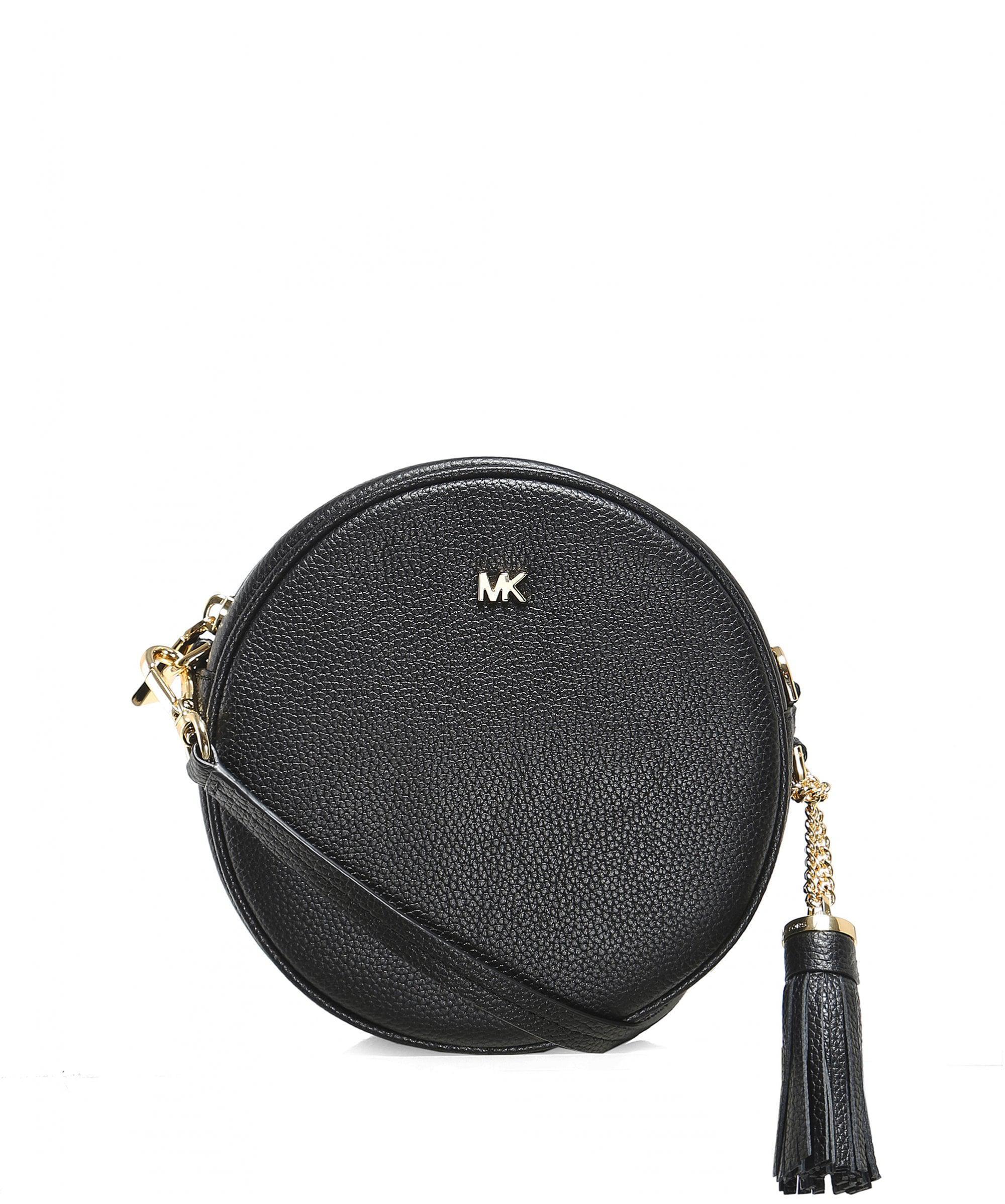 3d9f03d5e06069 MICHAEL Michael Kors Pebbled Leather Canteen Crossbody Bag in Black ...