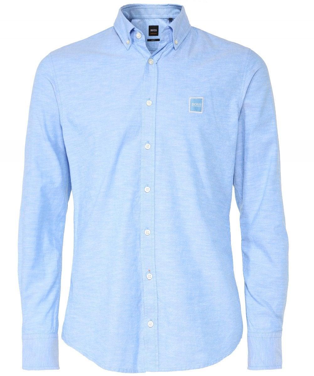 8a8781fe3 BOSS - Blue Slim Fit Mabsoot Oxford Shirt for Men - Lyst. View fullscreen