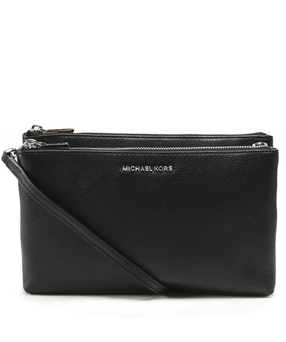 0f00fcdd66ab MICHAEL Michael Kors. Women s Black Adele Leather Double Zip Crossbody Bag