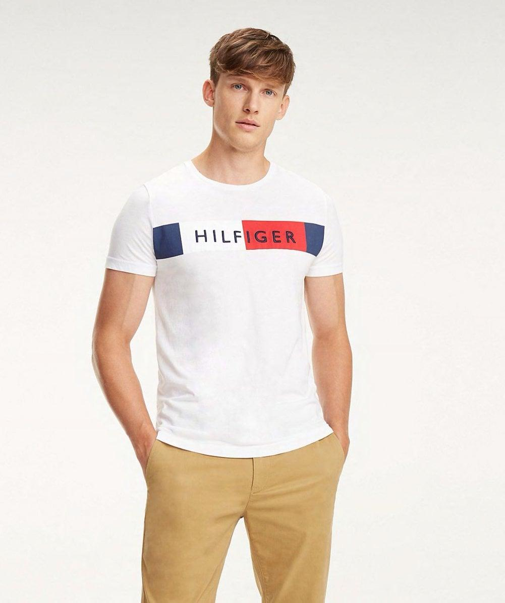 ed9506f9 Tommy Hilfiger Colour-blocked Flag T-shirt in White for Men - Save 3% - Lyst