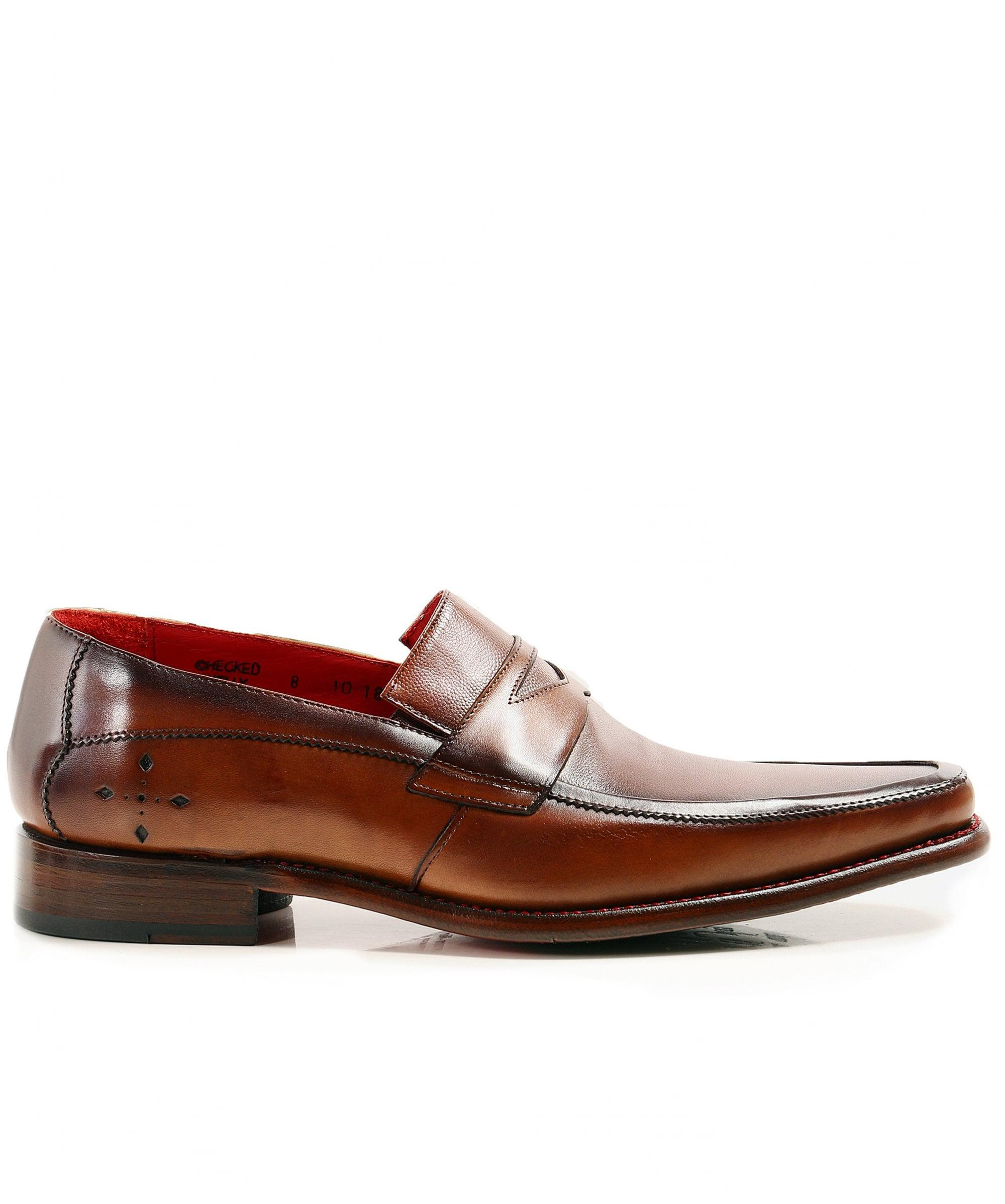 32b4e810d74f Lyst - Jeffery West Leather Checked Loafers in Brown for Men