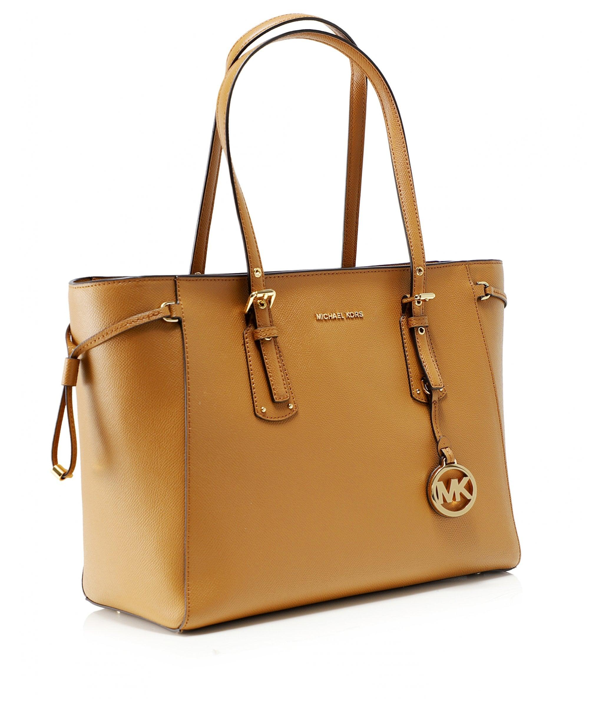 4f18cdc0f723 Lyst - MICHAEL Michael Kors Leather Voyager Medium Tote Bag in Brown
