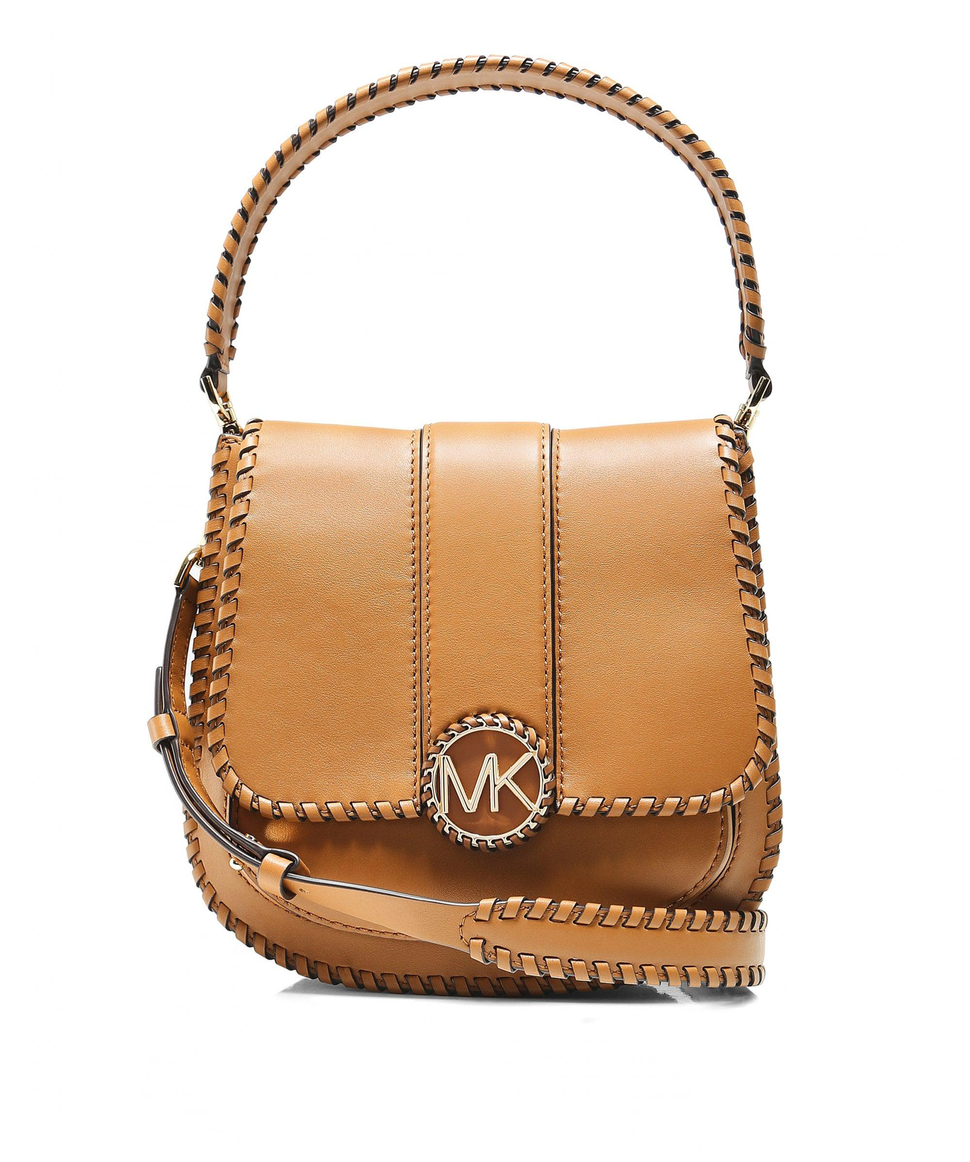 3a80878d7ec2 MICHAEL Michael Kors Lillie Medium Leather Shoulder Bag in Brown - Lyst