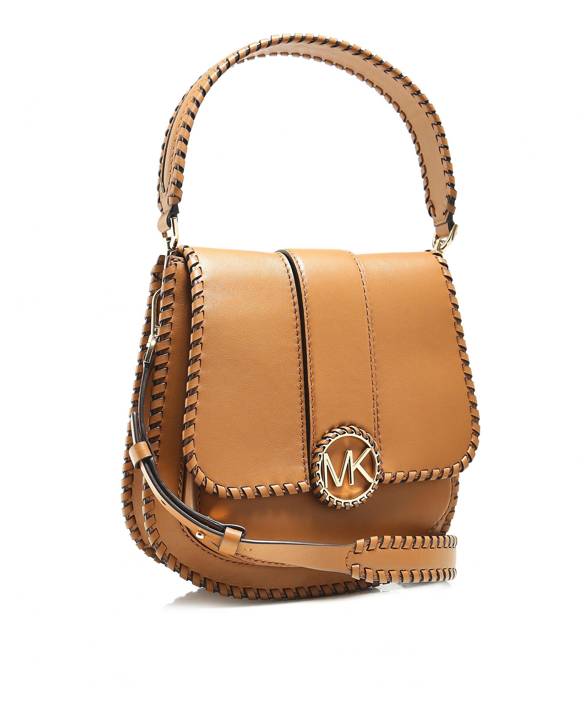 3ef2a7bdfc9b MICHAEL Michael Kors Lillie Medium Leather Shoulder Bag in Brown - Lyst