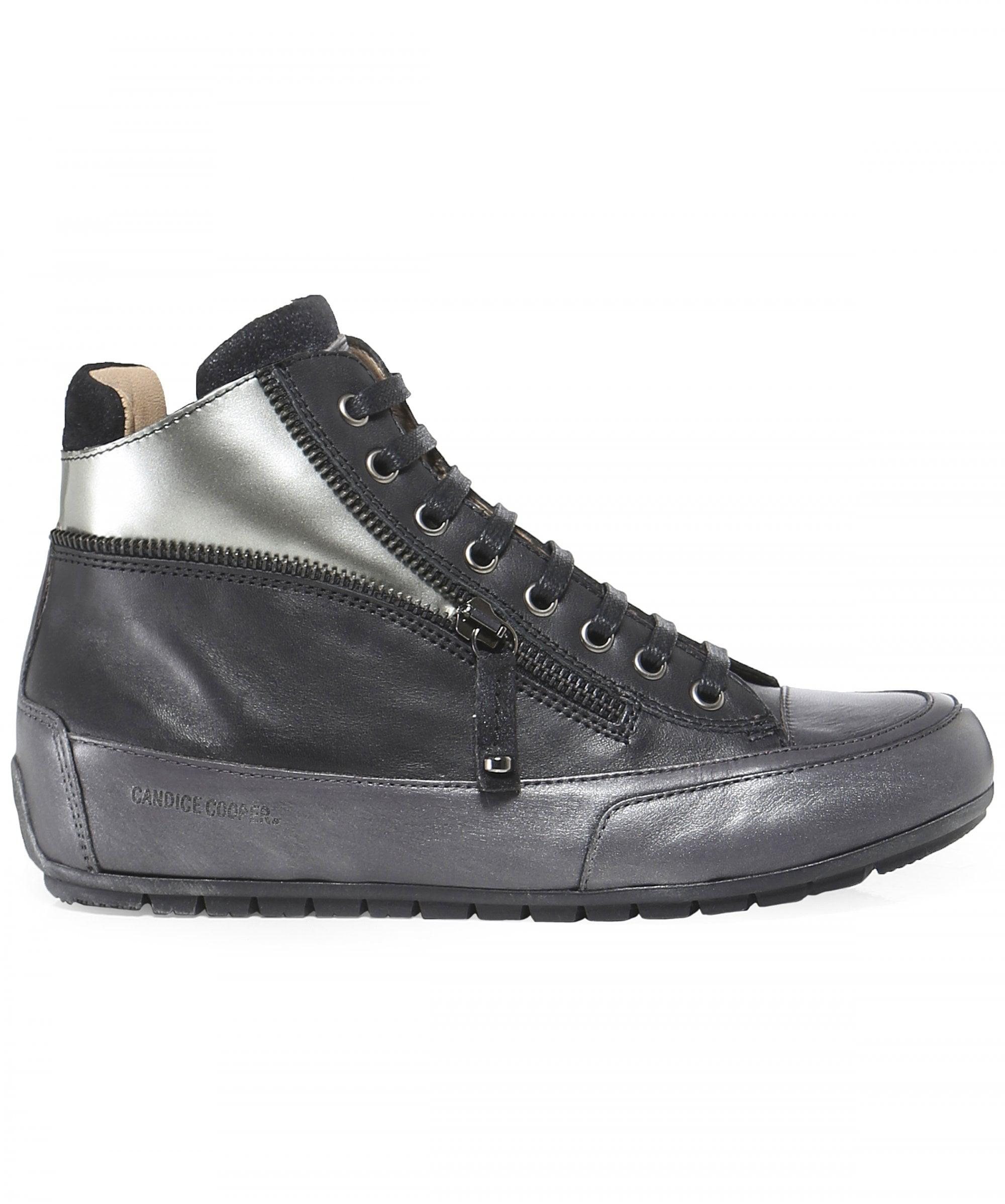 4475739f5fd48 Candice Cooper Beverly High Top Trainers in Black - Save 17.02127659574468%  - Lyst