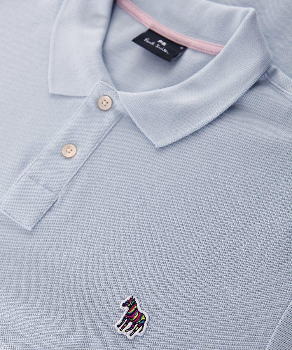 f5d9ea90f66a15 Lyst - PS by Paul Smith Regular Fit Pique Zebra Polo Shirt in Blue for Men