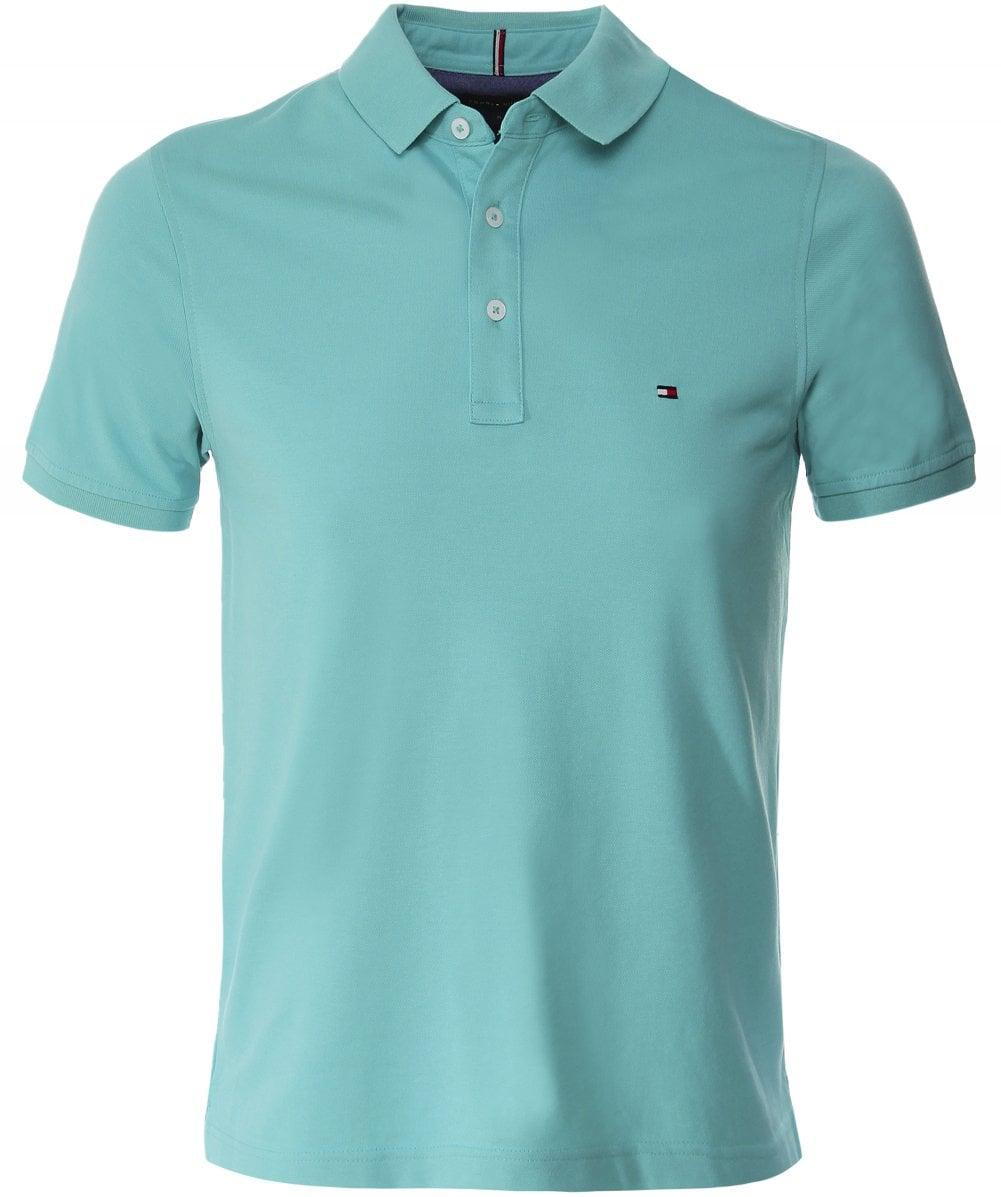 8cb895ff Tommy Hilfiger Slim Fit Pique Polo Shirt in Blue for Men - Save 30 ...