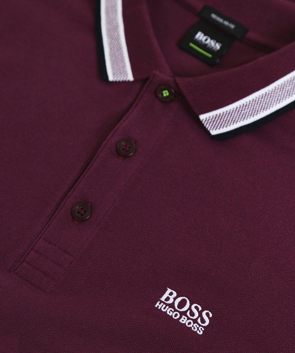 29410c23 BOSS Green Regular Fit Long Sleeve Plisy Polo Shirt in Red for Men - Save  1% - Lyst