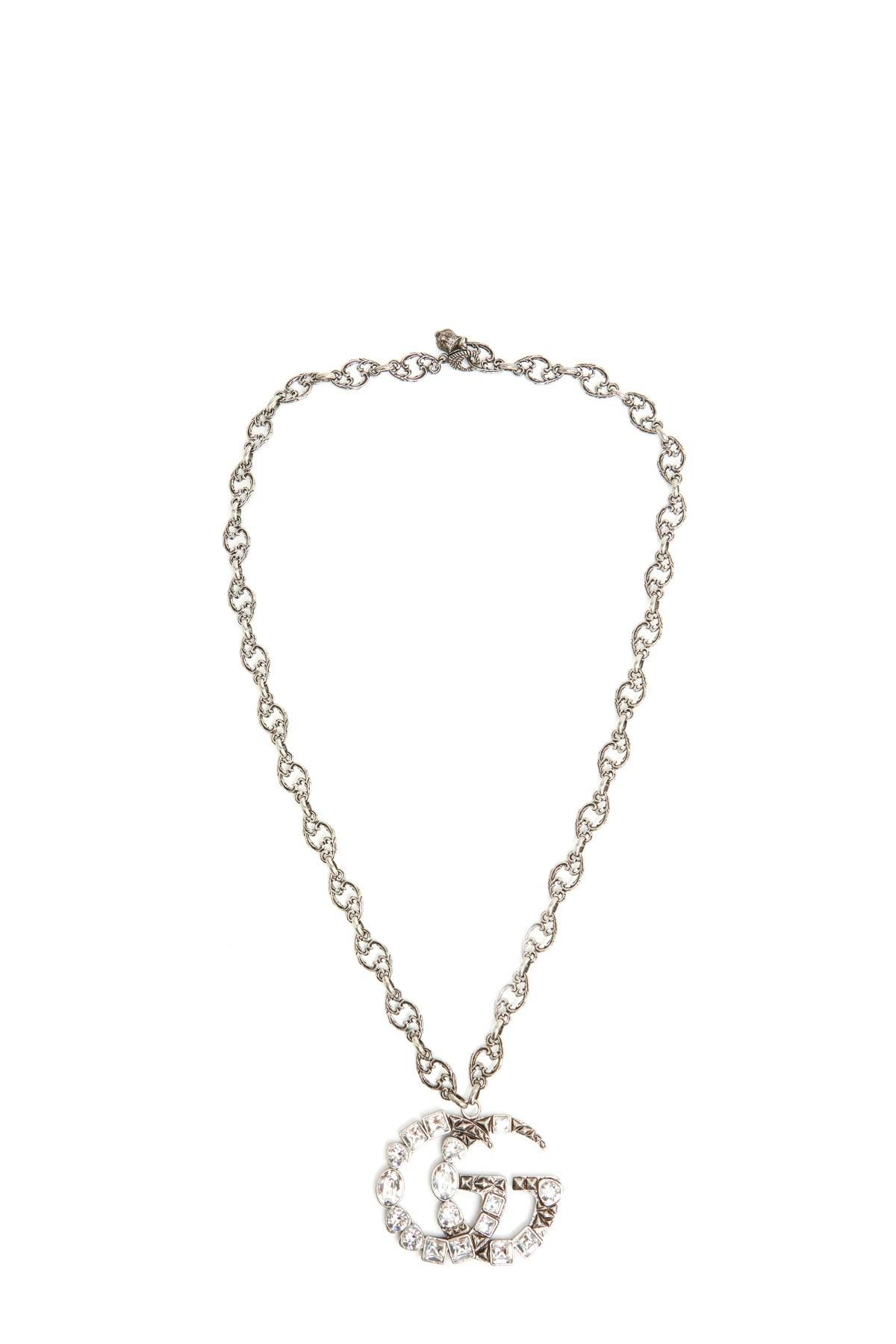 c164fac90 Gucci 'gg Marmont' Necklace in Metallic - Lyst