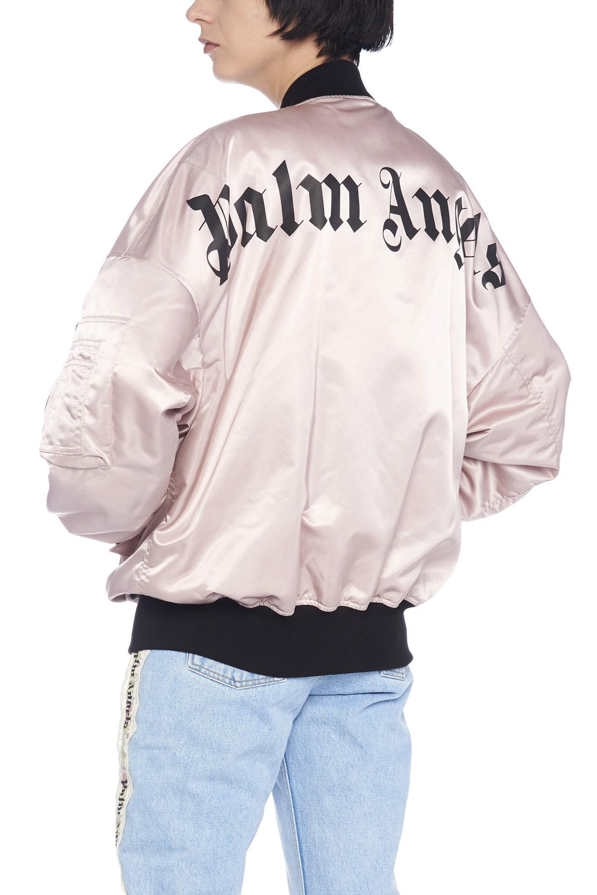 c5cbc32fb0 Lyst - Palm Angels Logo Bomber Jacket in Pink
