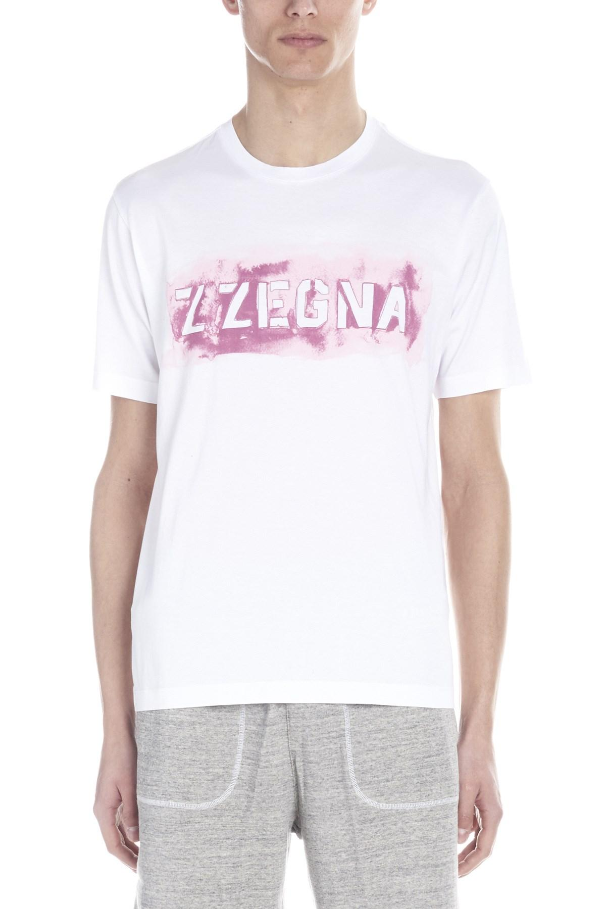 04a9e5a9 Lyst - Z Zegna Logo T-shirt in White for Men