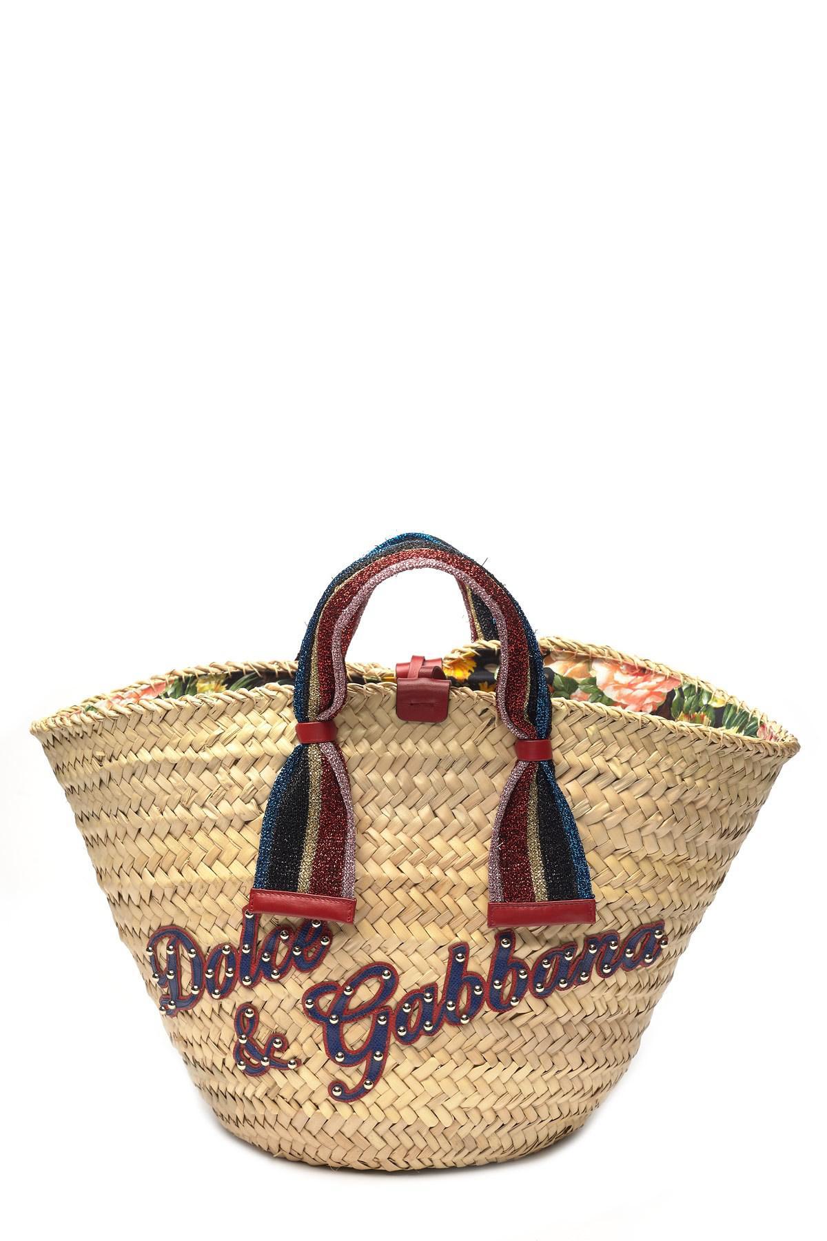 Dolce   Gabbana. Women s Natural Kendra Lurex-trimmed Embellished Straw Tote d0a1831af60