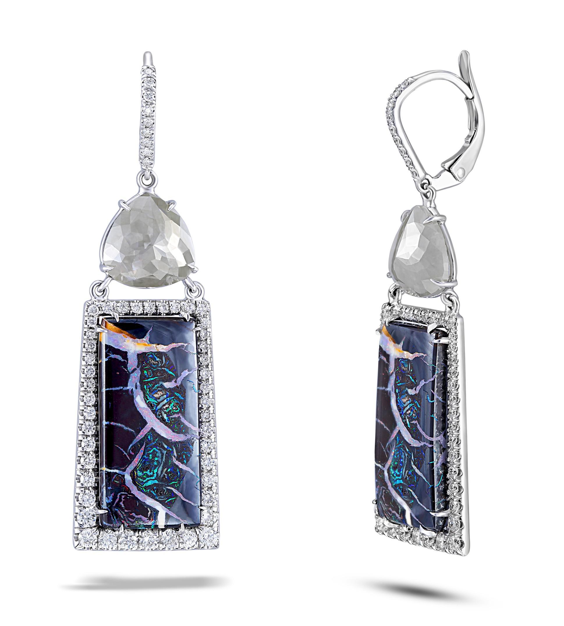 Lyst Nina Runsdorf Opal Diamond Earrings in Blue