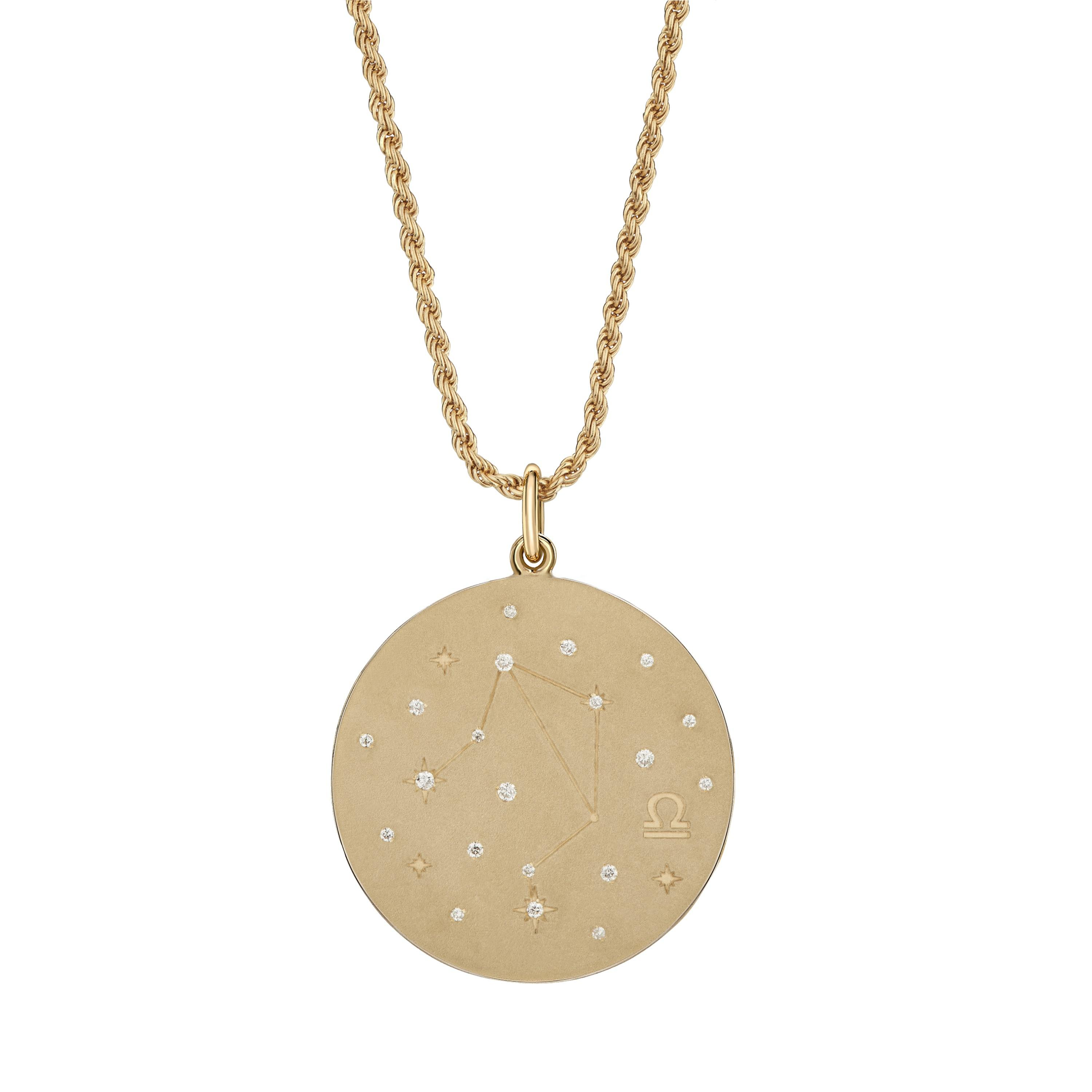 necklace horoscope libra zodiac gold taurus