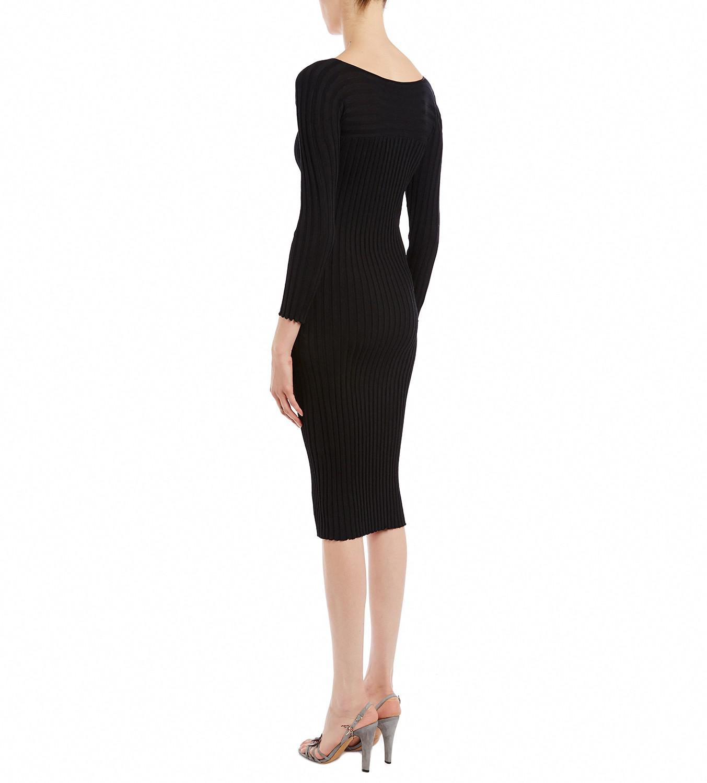 Cotton-jersey Midi Dress - Black Rosetta Getty g1i7YQv0G
