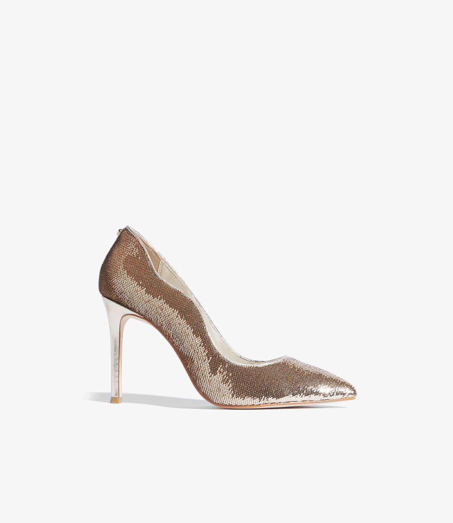 b4ed2cb9b4b0 Karen Millen Sequined Court Shoes in Metallic - Lyst