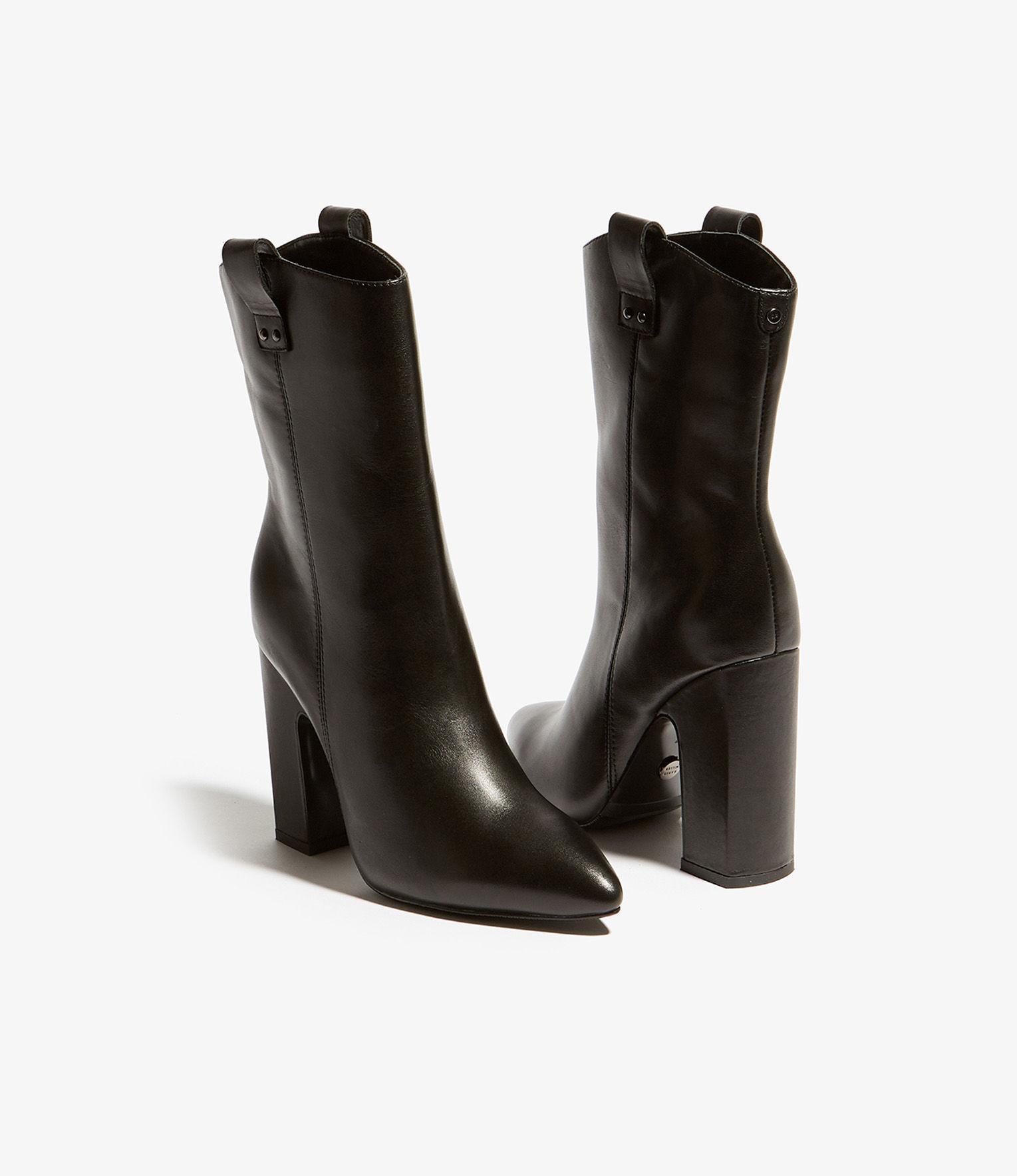 18fa6ddd9a47 Karen Millen - Black Pull-on Calf Boots - Lyst. View fullscreen
