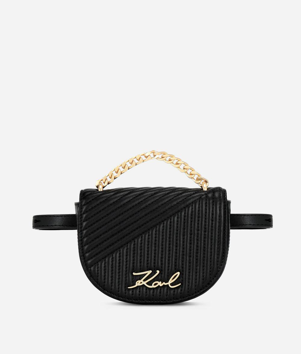 60672009b1b3 Karl Lagerfeld K signature Quilted Bumbag in Black - Lyst