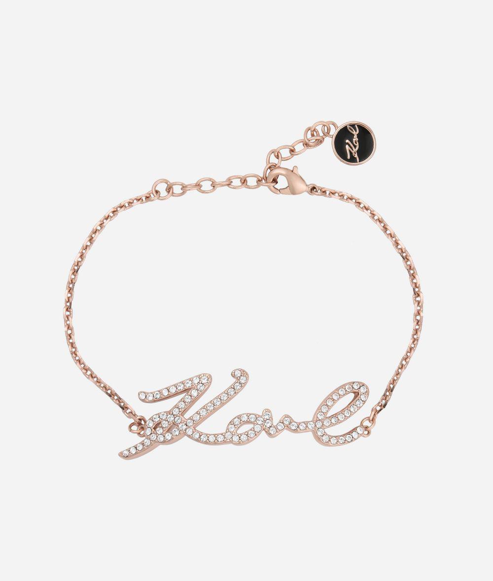 Karl Lagerfeld Karl signature bracelet - Metallic rNtupZXQ