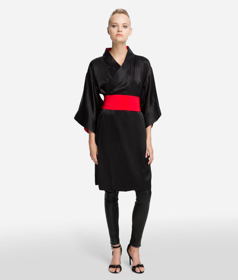 a2b3415a10506 Lyst - Karl Lagerfeld K tokyo Kimono Silk Dress in Black