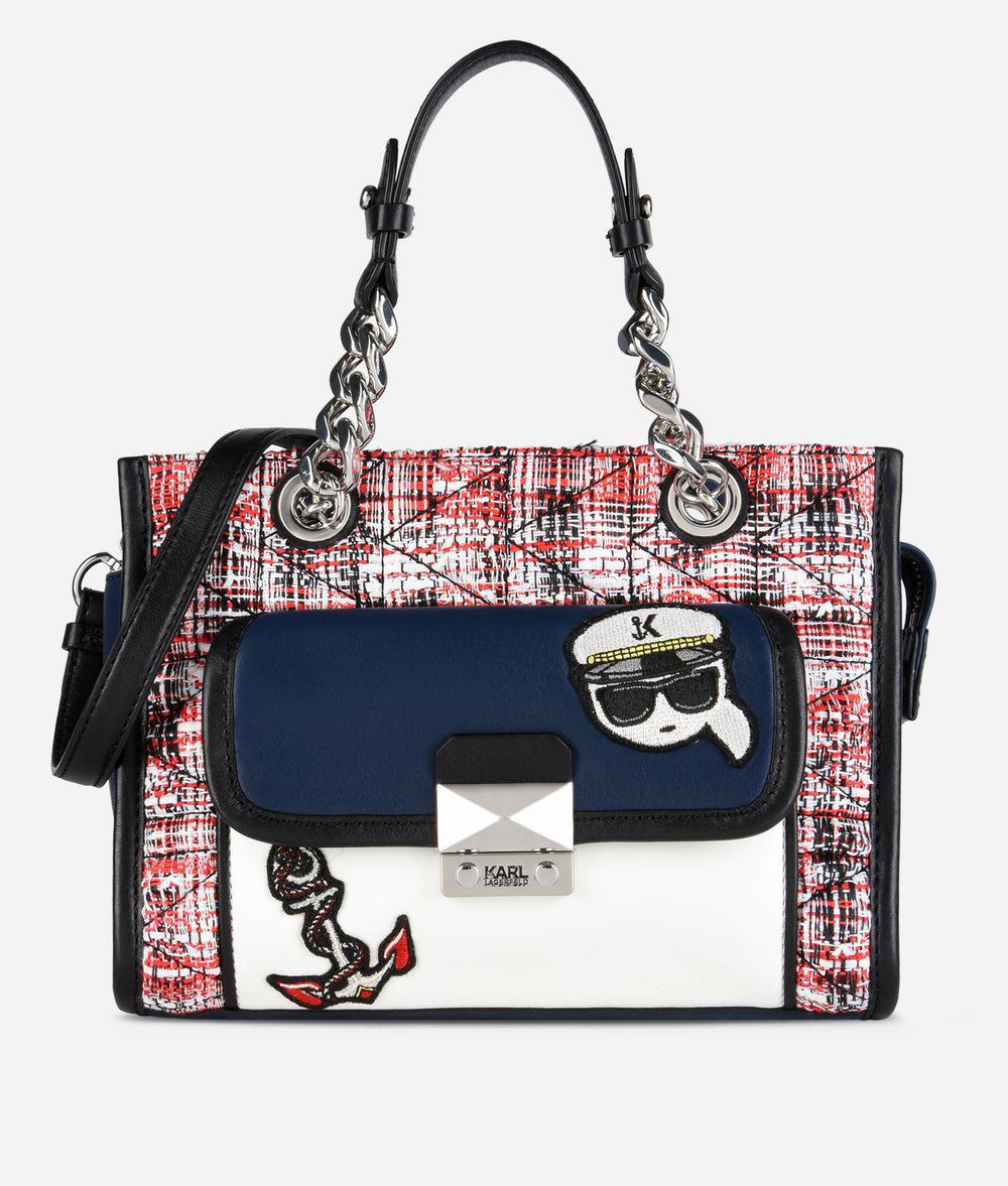 quilted tweed mini tote - Multicolour Karl Lagerfeld