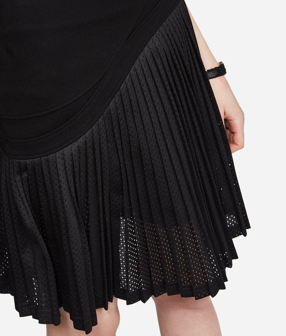 Karl y Lyst Lagerfeld negro plisada de Punto falda malla qUHwSCq 9d3008abd4ae