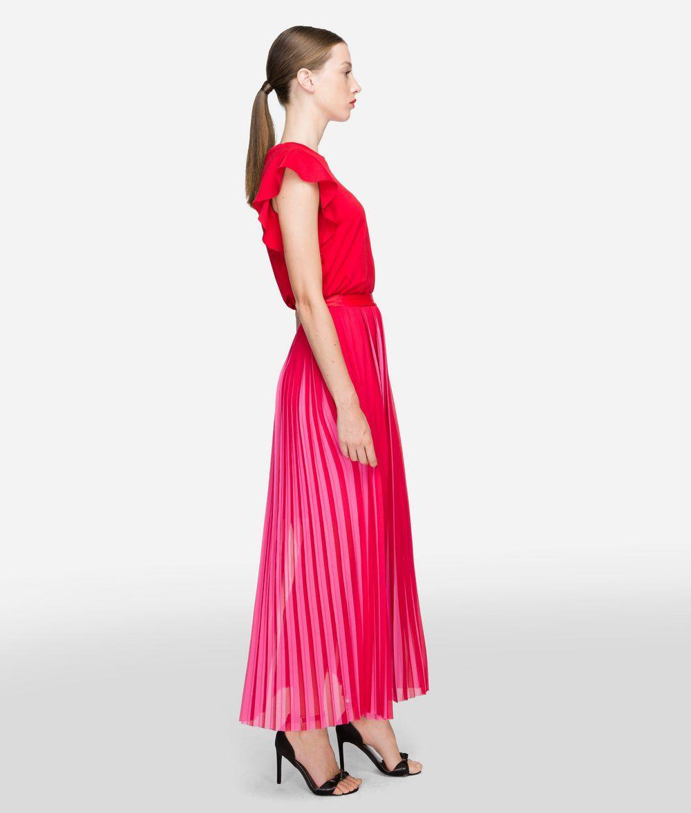 2ade90cb1e Karl Lagerfeld - Pink Pleated Maxi Skirt - Lyst. View fullscreen