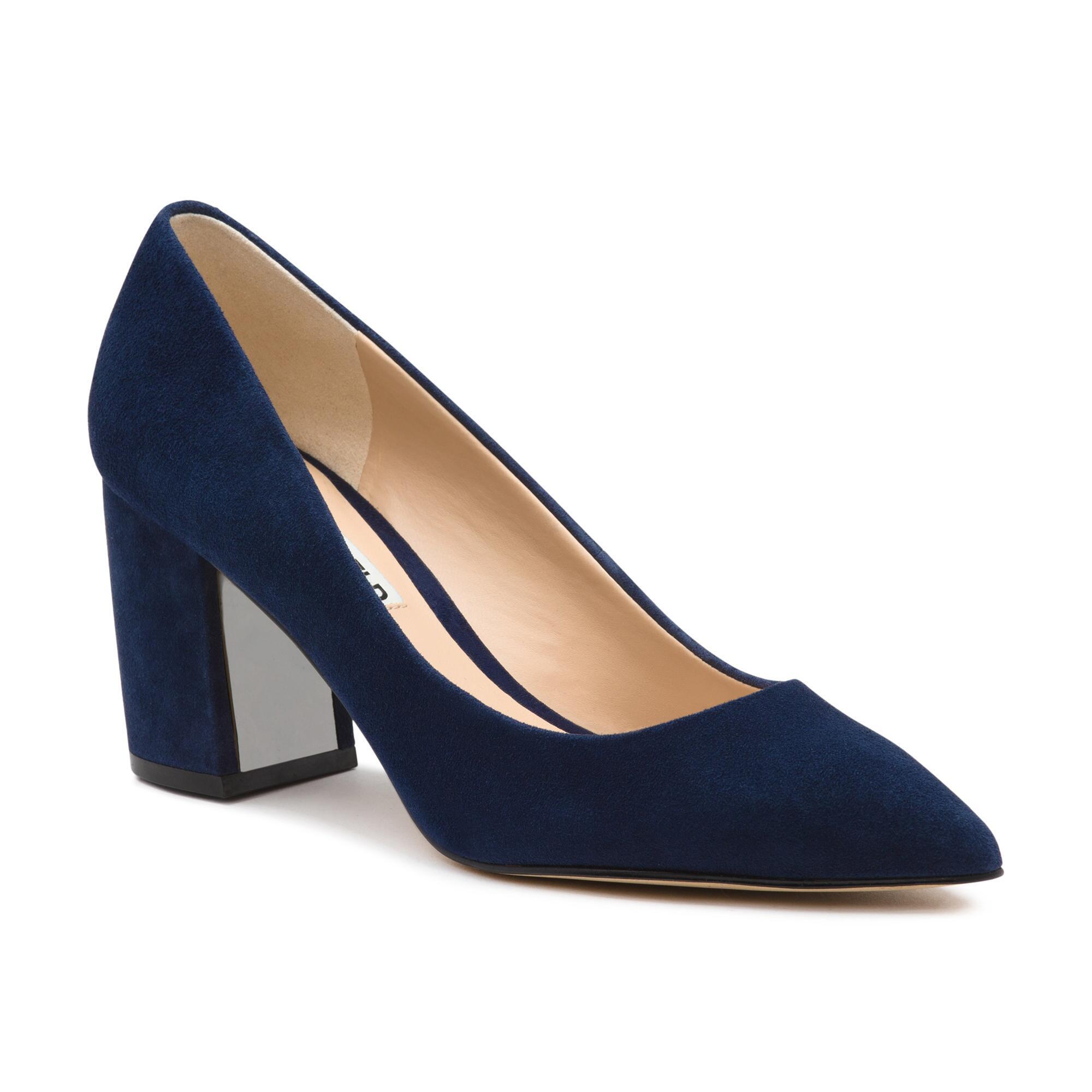 f98b933a148 Karl Lagerfeld. Women s Blue Addie Pointy Toe Pump With Asymmetrical Heel