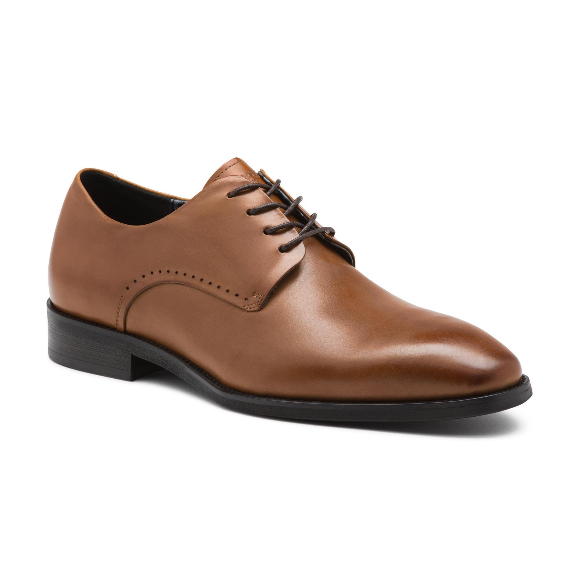 b8075c1ad2d2 Lyst - Karl Lagerfeld Burnished Leather Oxford With Perforation in ...