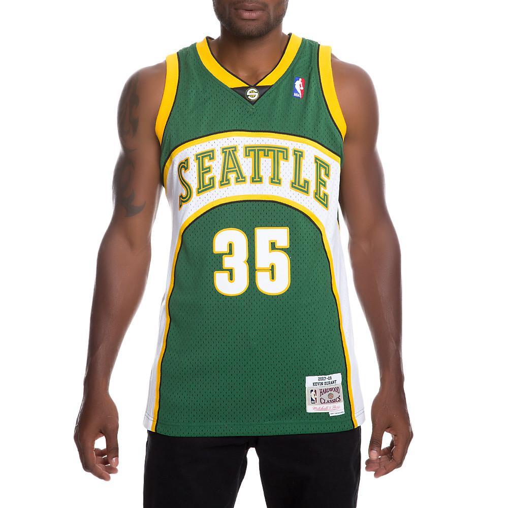 0f44e16101f Lyst - Mitchell   Ness Men s Supersonics Kevin Durant Jersey in ...