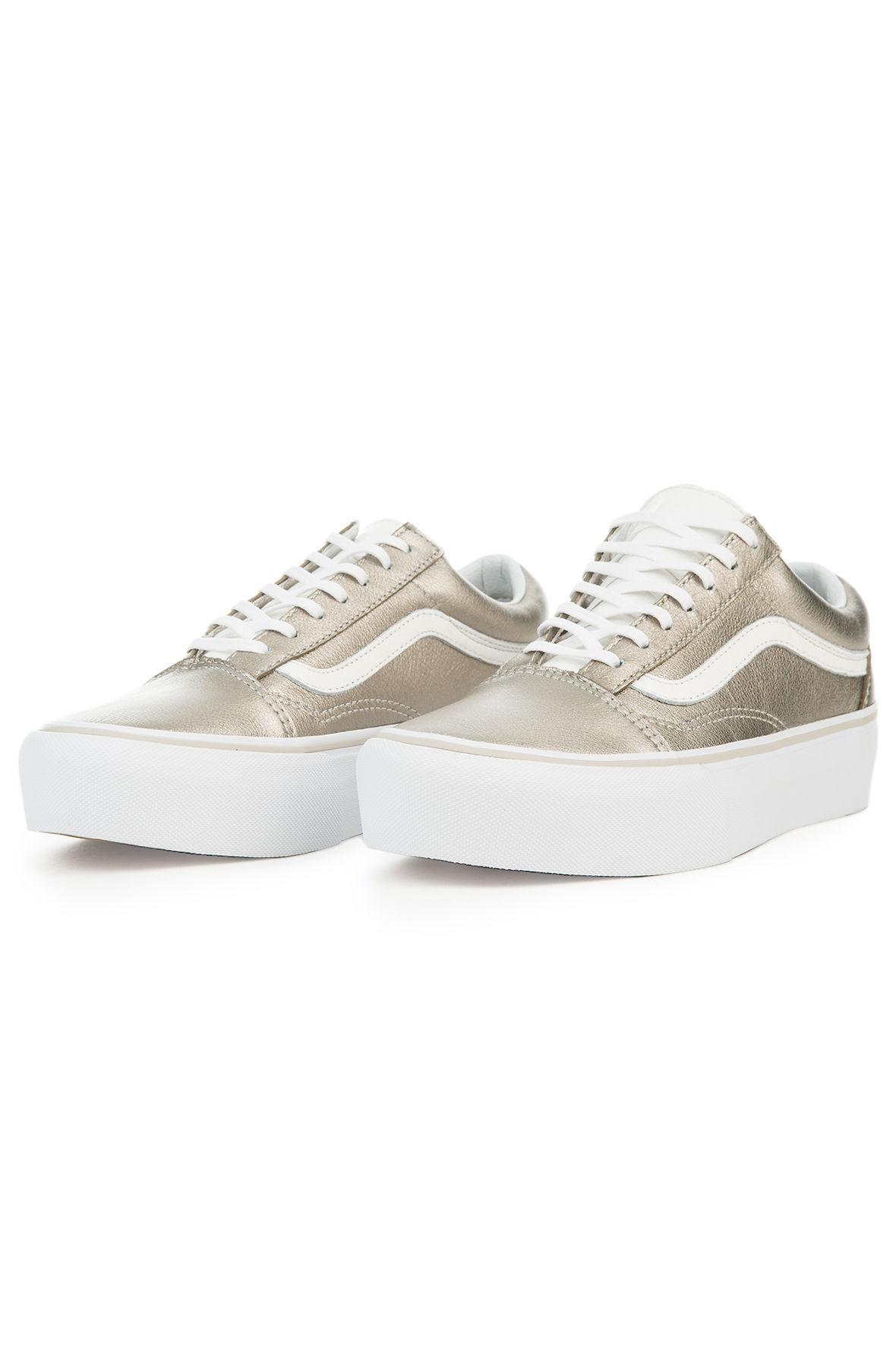 vans damen old skool sneakers gold