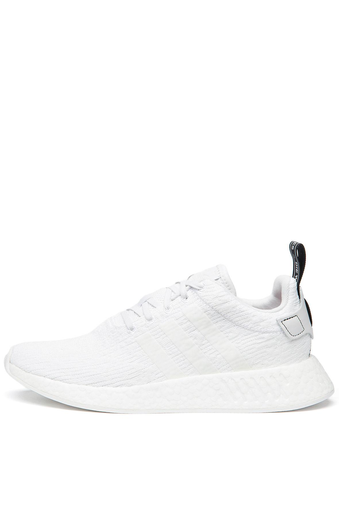 6890bda68cdcb Lyst - Adidas The Nmd r2 In Crystal White And Coral Black in White
