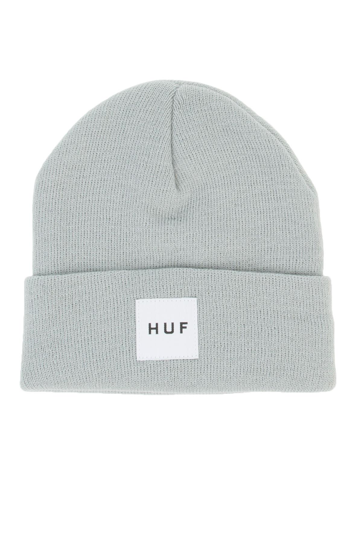 dcad2efea55 Lyst - Huf The Box Logo Beanie in Gray for Men