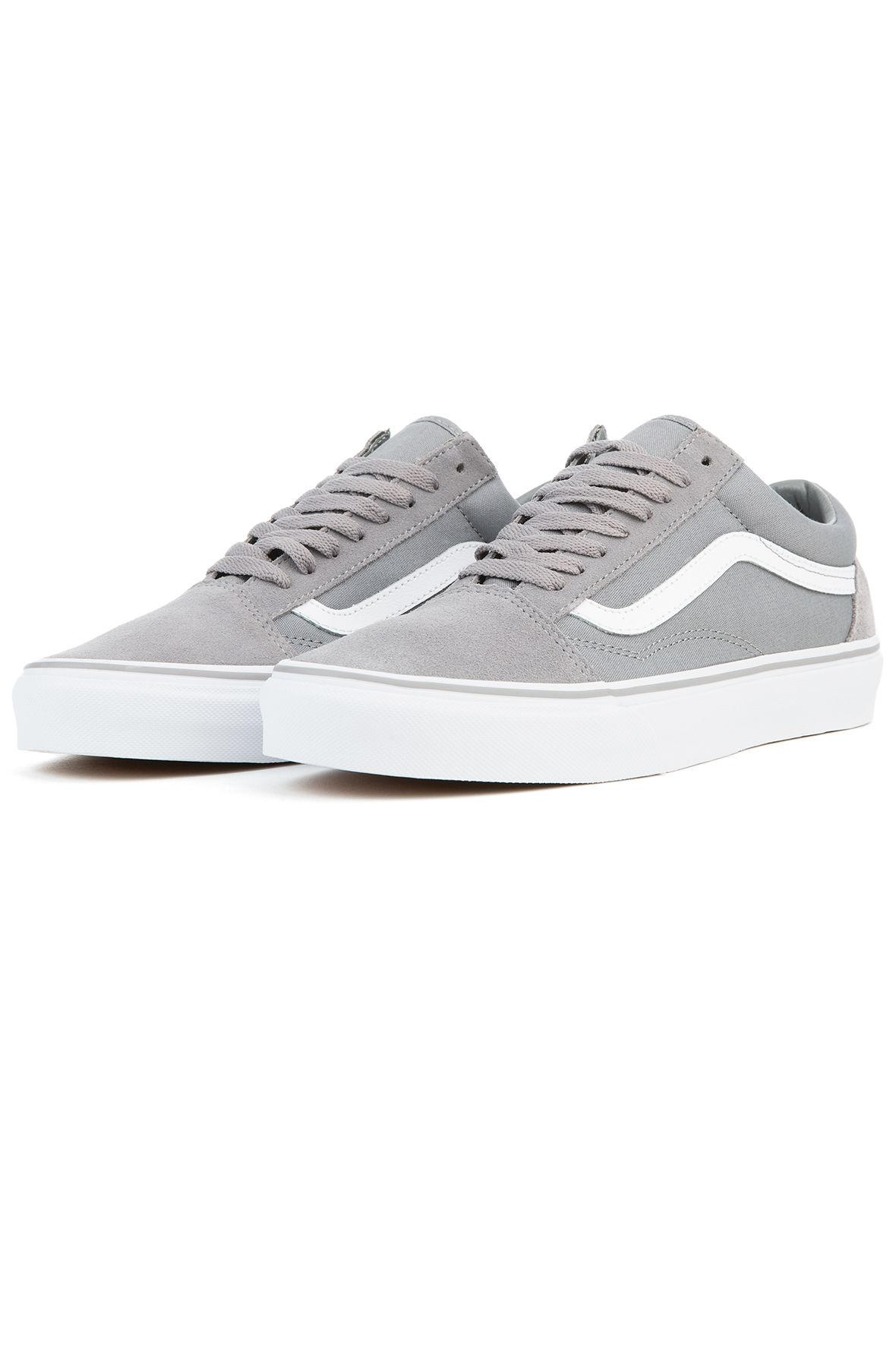 a73c6f4e121 Lyst - Vans The Unisex Old Skool In Frost Grey Suede And True White ...