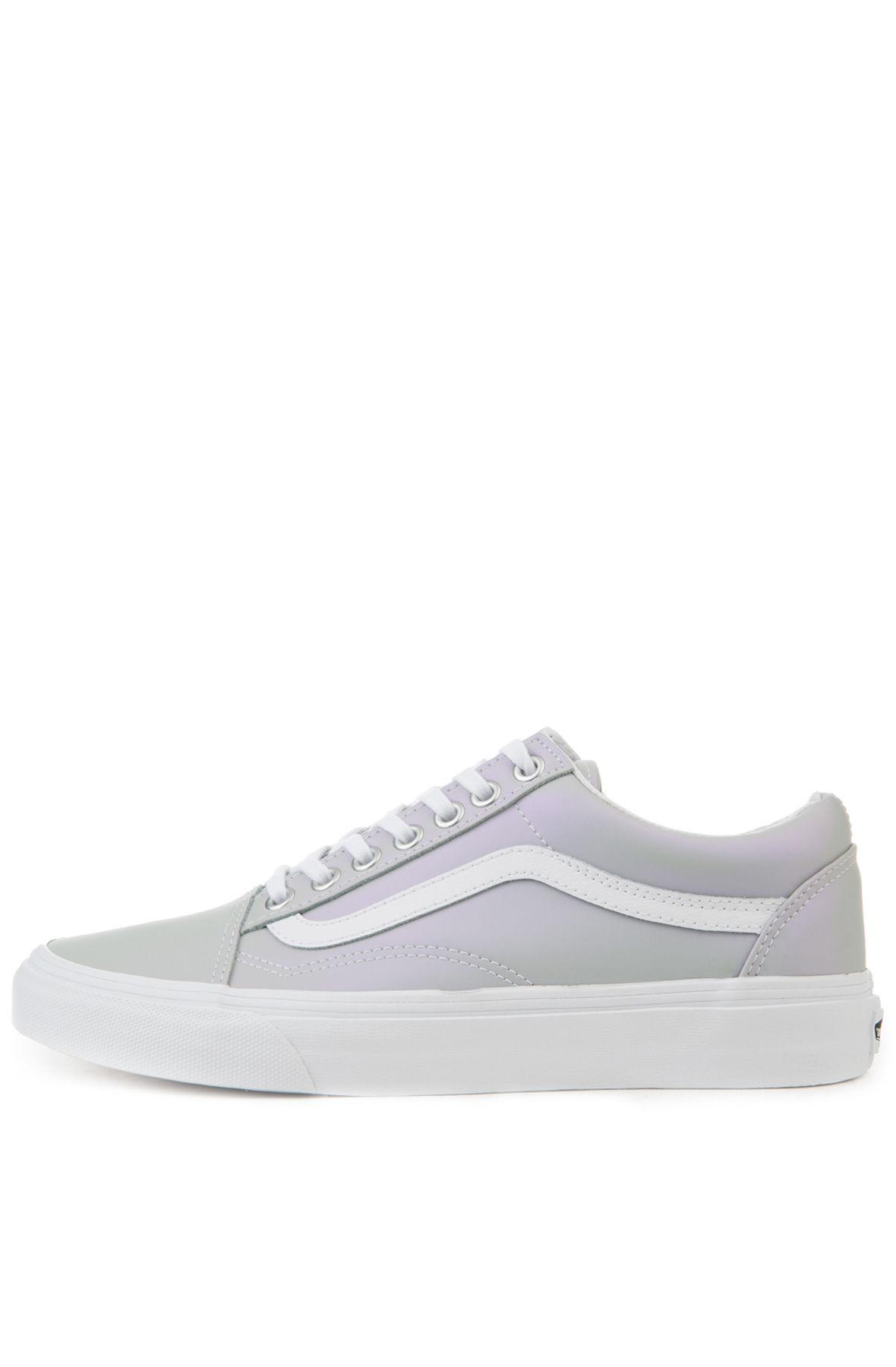 7bbf1b909651 Lyst - Vans The Women s Old Skool Muted Metallic In Gray And Violet ...