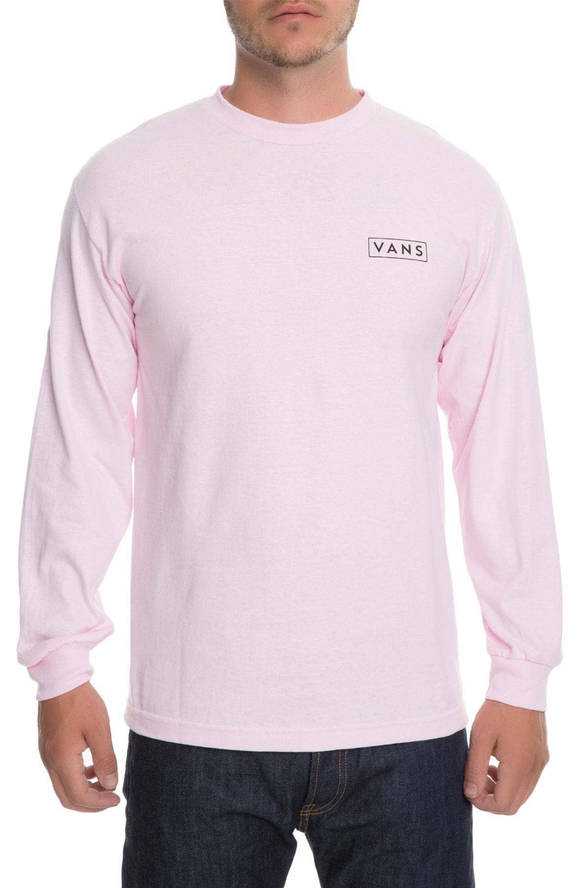 165b67caa06 Lyst - Vans The Checkmate Long Sleeve Tee in Pink for Men