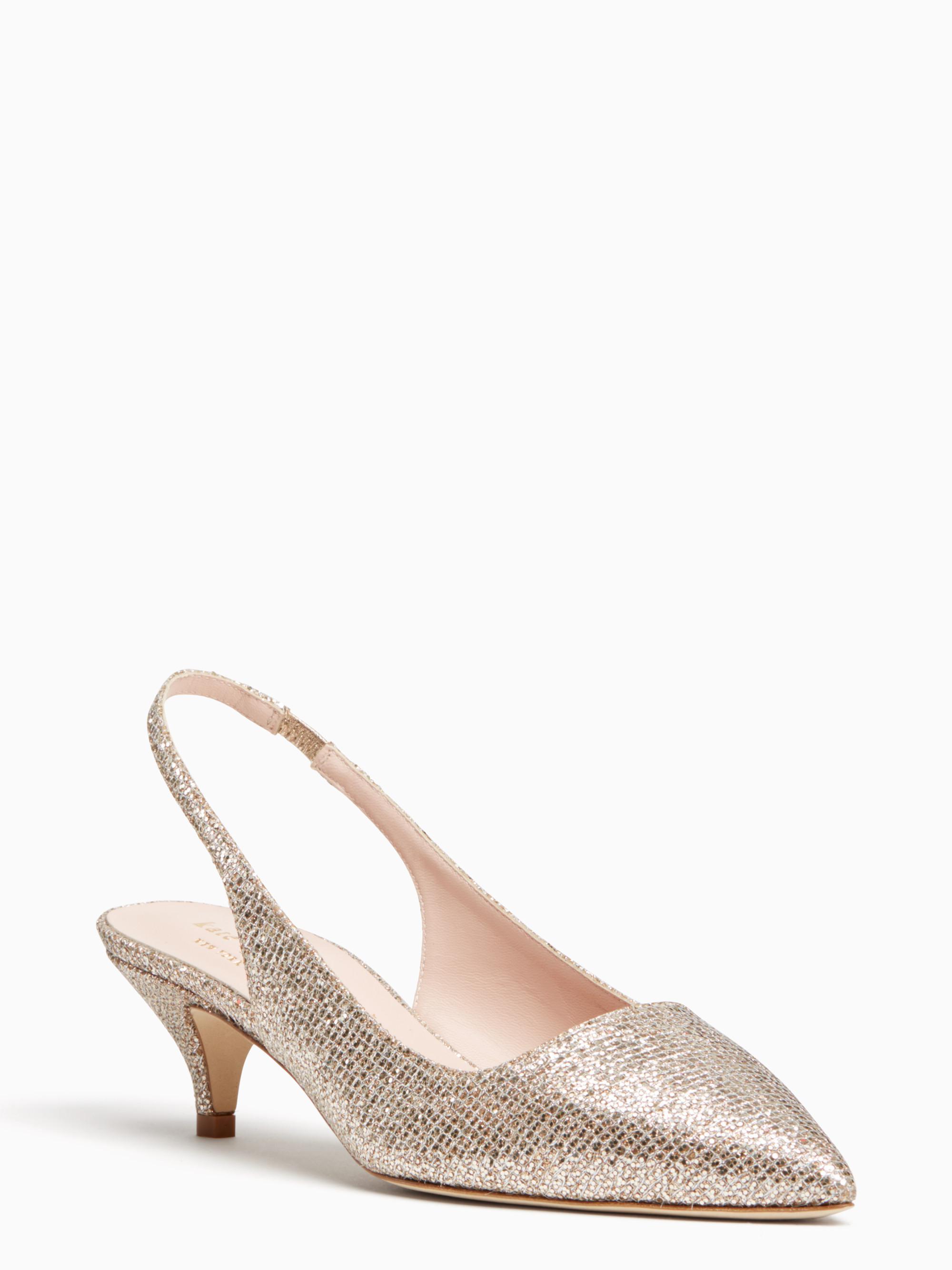 ac8ce099c8ae Lyst - Kate Spade Ocean Heels in Metallic