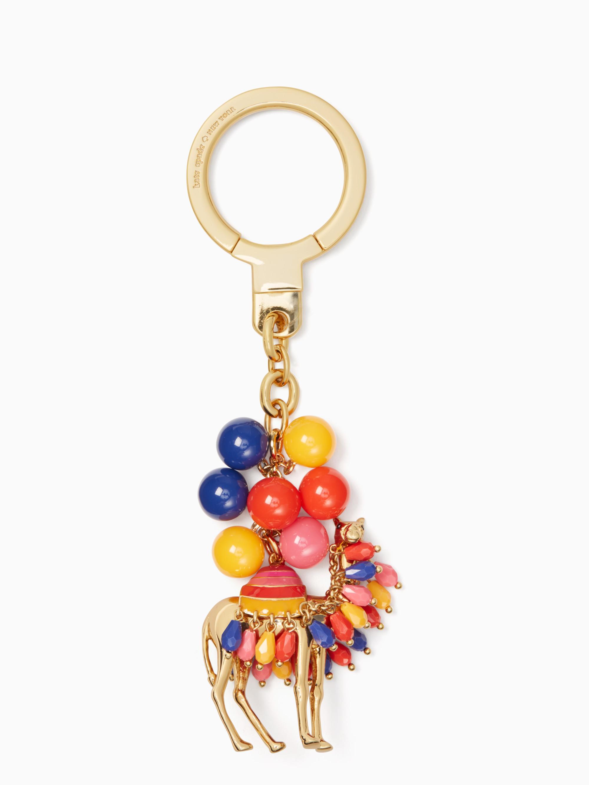 Lyst - Kate Spade Jeweled Camel Keychain a82e324b5