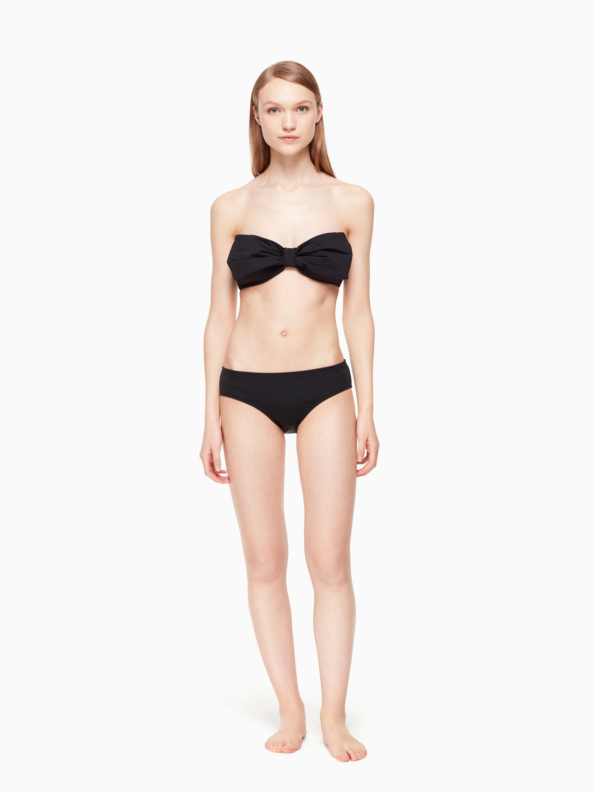dcf4d6a049ddf Kate Spade - Black Georgica Beach Bandeau Bikini Top - Lyst. View fullscreen
