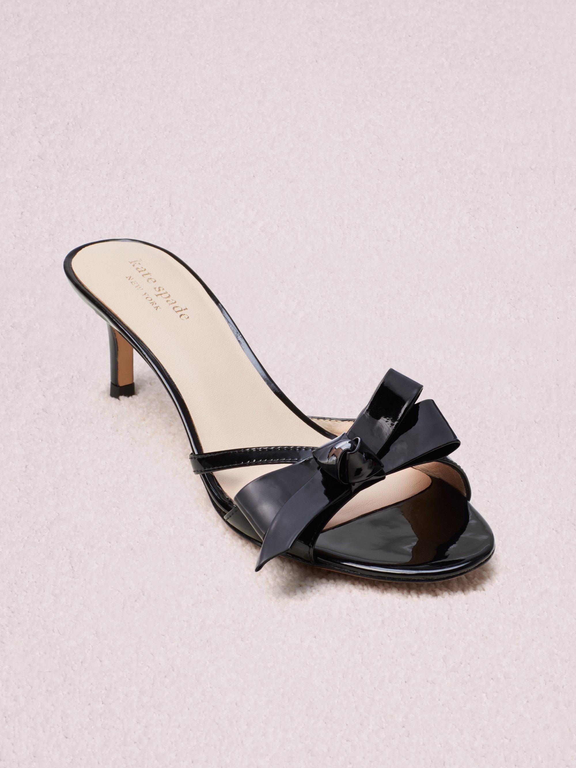 715b784e6b70 Kate Spade - Black Women s Simona Backless Kitten Heel Sandals - Lyst. View  fullscreen
