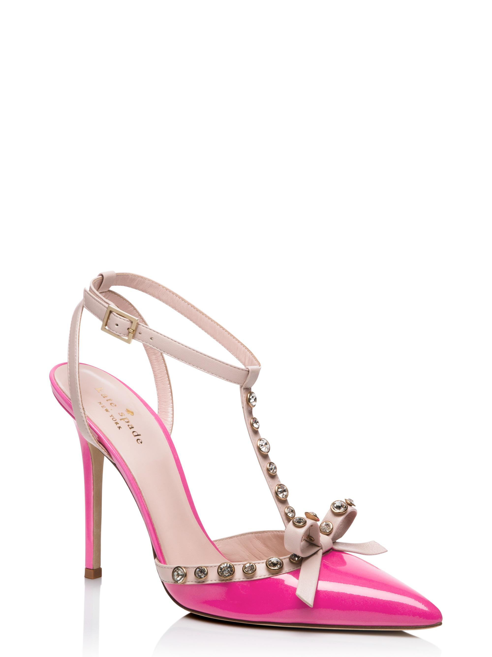 c99e2bb8bb81 Lyst - Kate Spade Lydia Heels in Pink