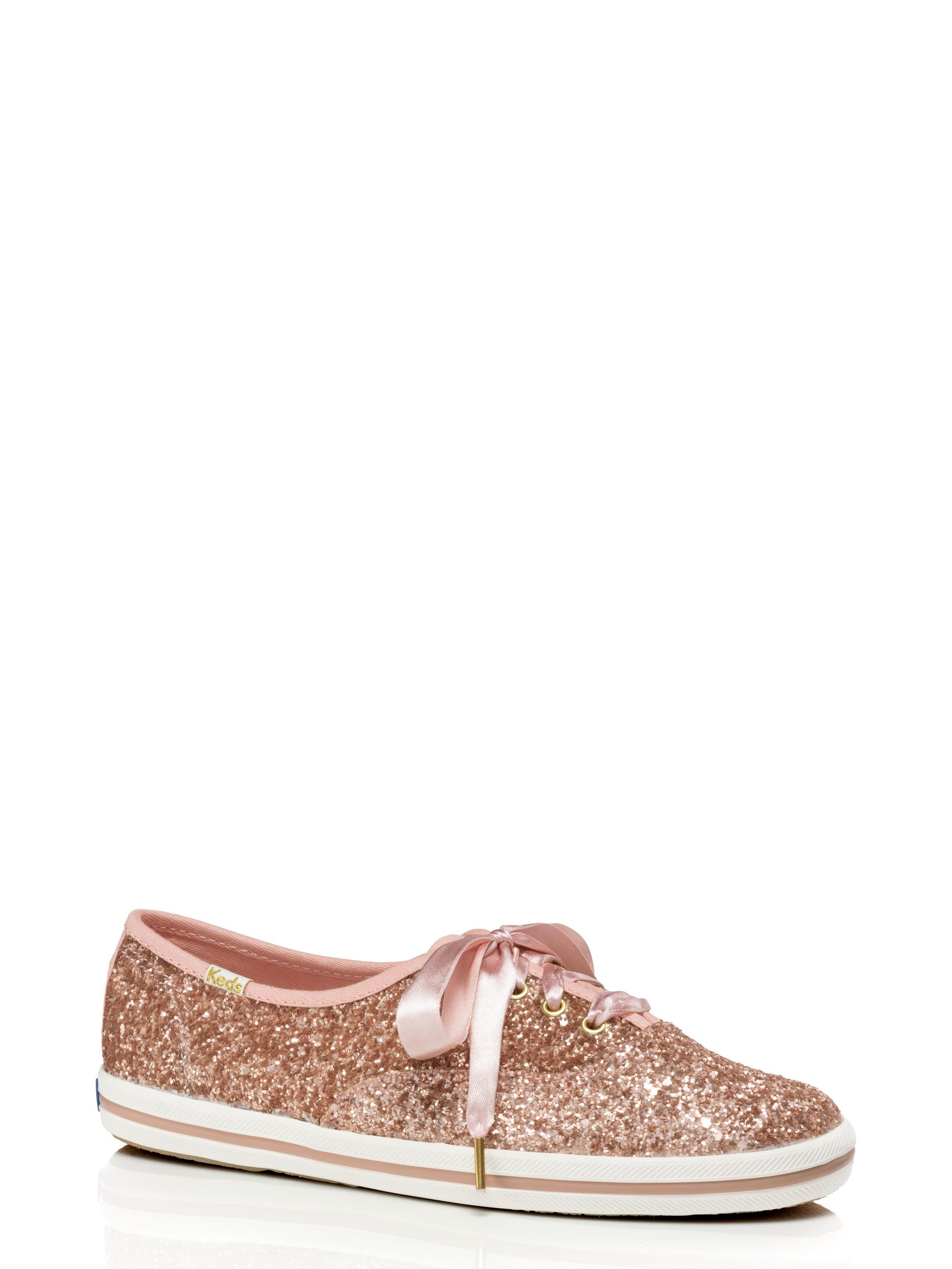 c8216dfcb8 Lyst - Kate Spade Keds X Glitter Sneakers in Pink