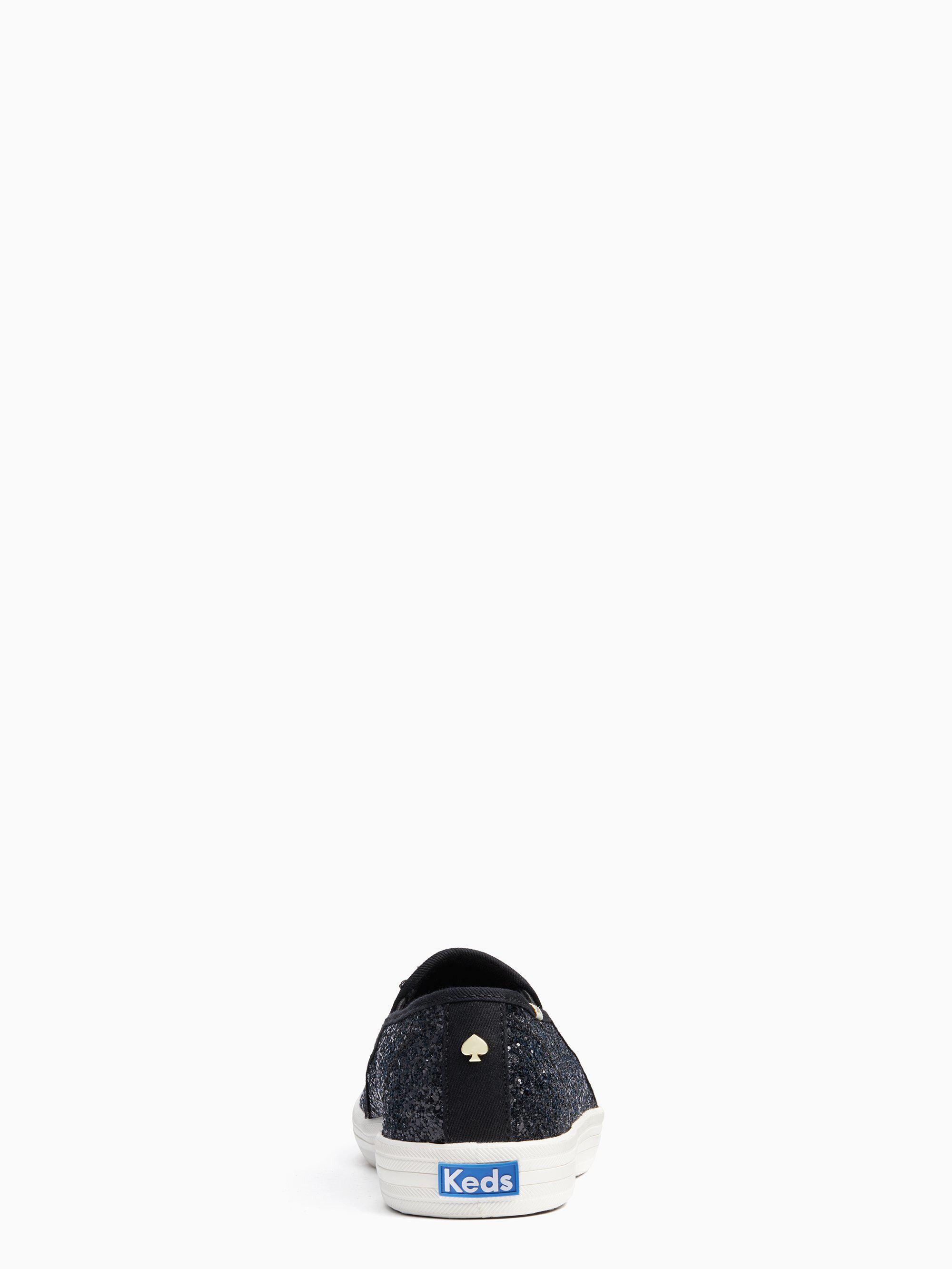 43f60e00827f Kate Spade - Black Keds X New York Double Decker Glitter Sneakers - Lyst.  View fullscreen