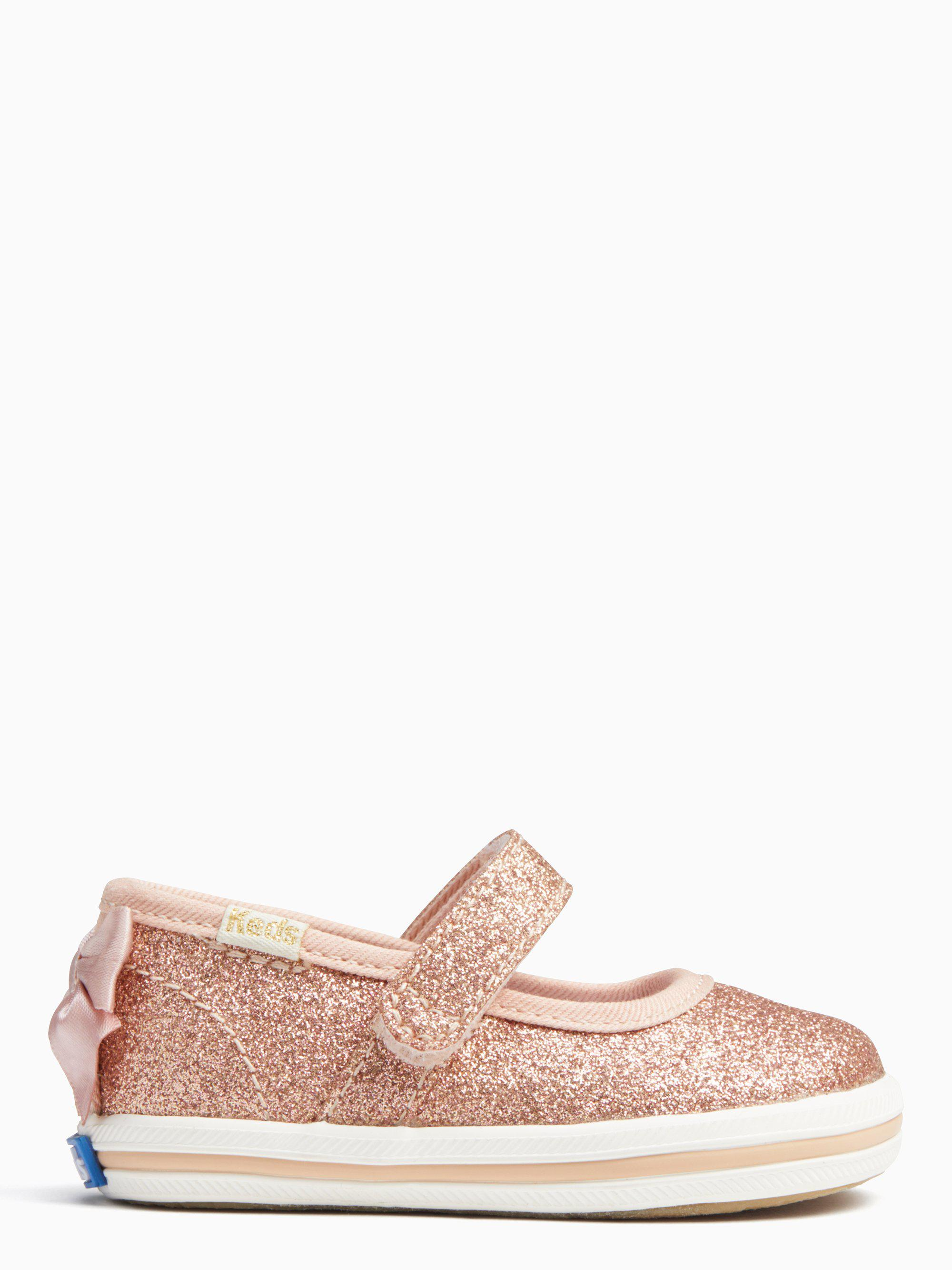 9d2cd3c94a3 Lyst - Kate Spade Keds X New York Sloan Mary Jane Crib Sneakers in Pink
