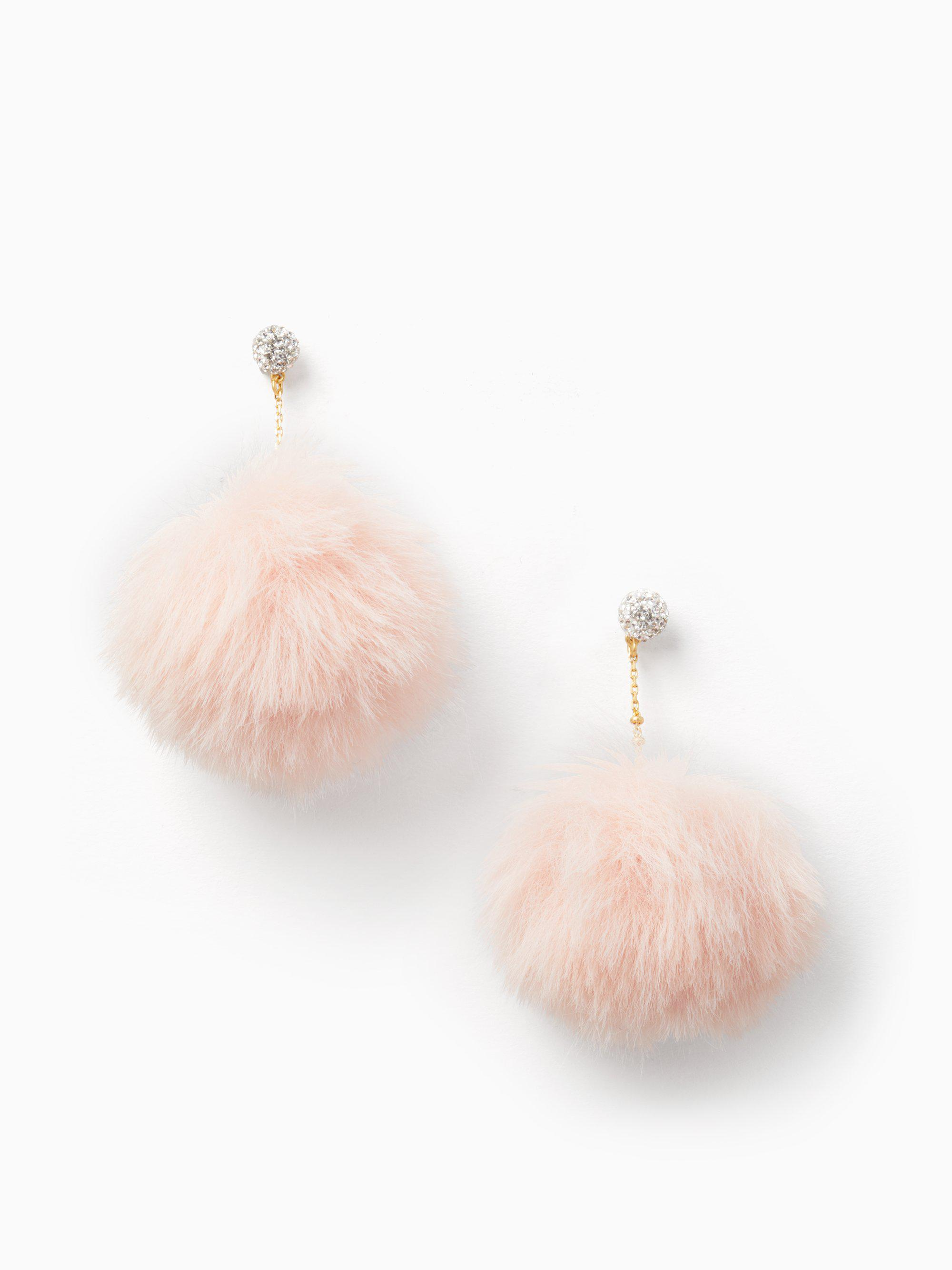 4414fbee9 Kate Spade Chic And Cushy Linear Pouf Earrings - Save 40% - Lyst