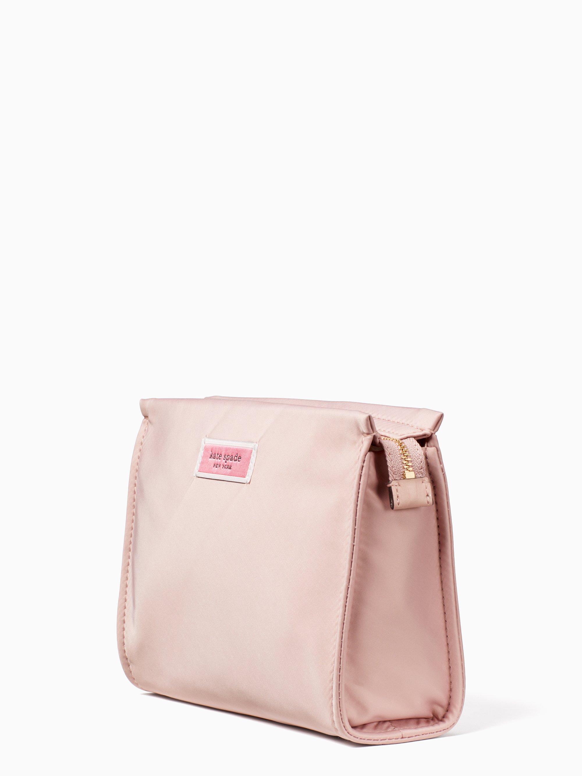 6acfa61584 Lyst - Kate Spade Sam Nylon Medium Cosmetic Bag in Pink - Save 29%
