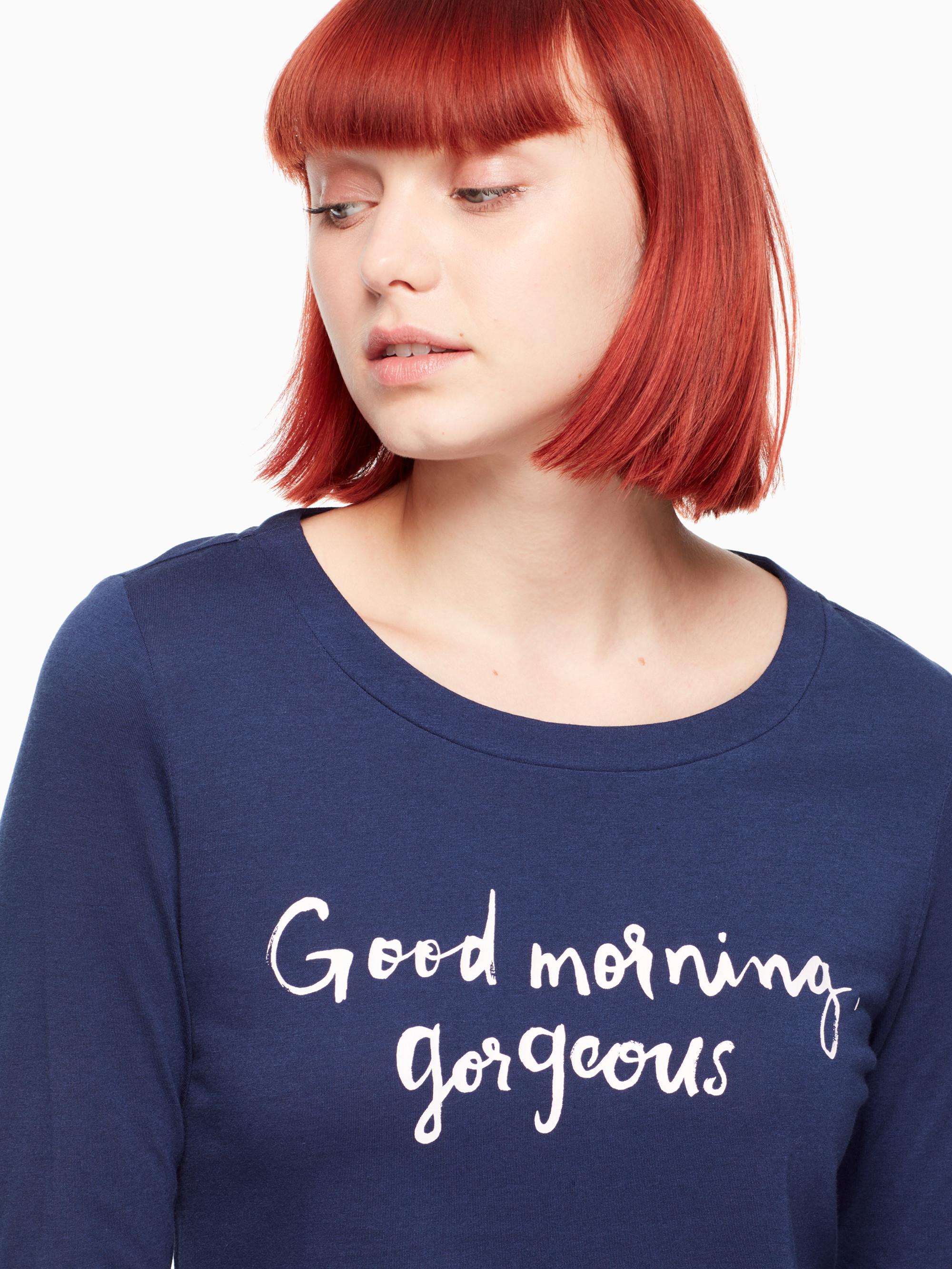 Lyst Kate Spade Good Morning Gorgeous Sleepshirt In Blue