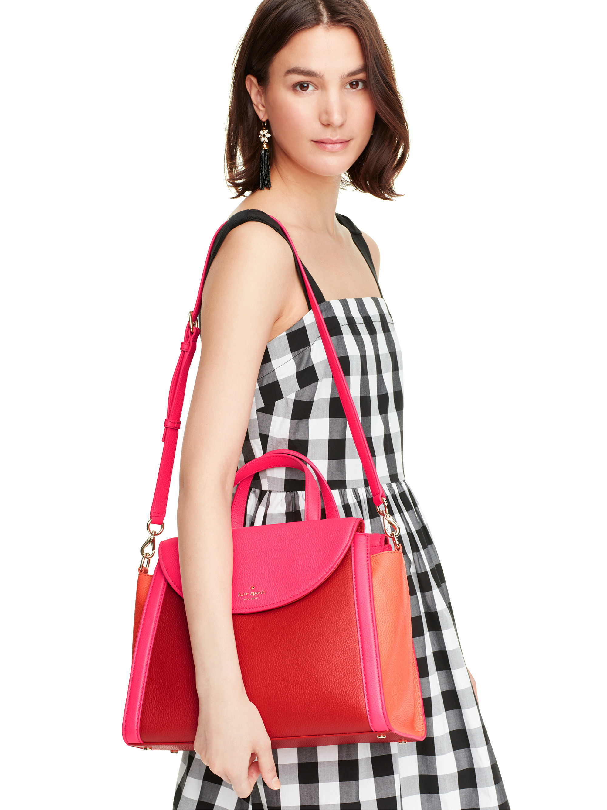 Lyst Kate Spade New York Cobble Hill Adrien In Red Katespade Large Two Tone Authentic Gallery