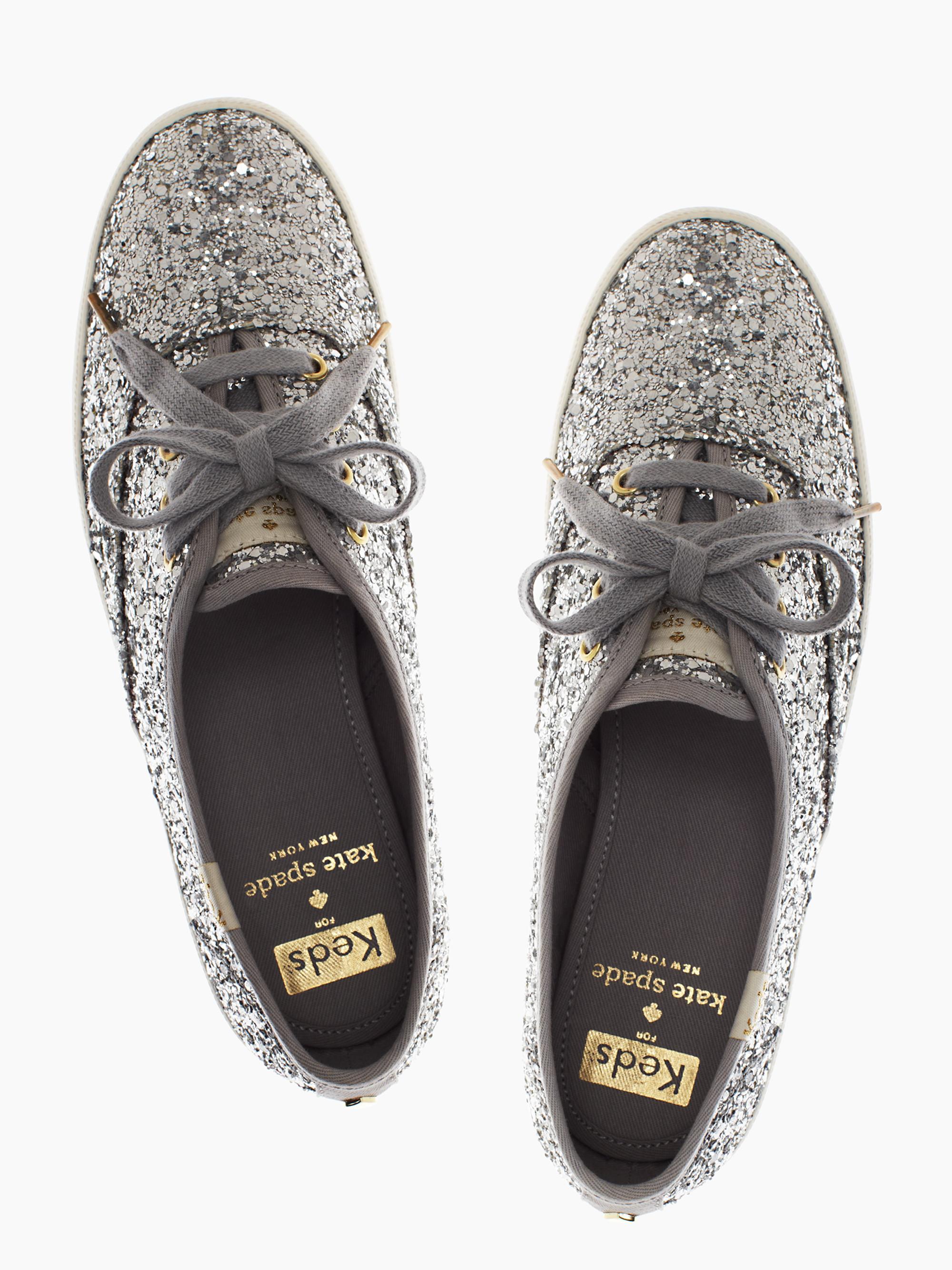 Kate Spade New York Keds For Glitter Sneakers In Metallic